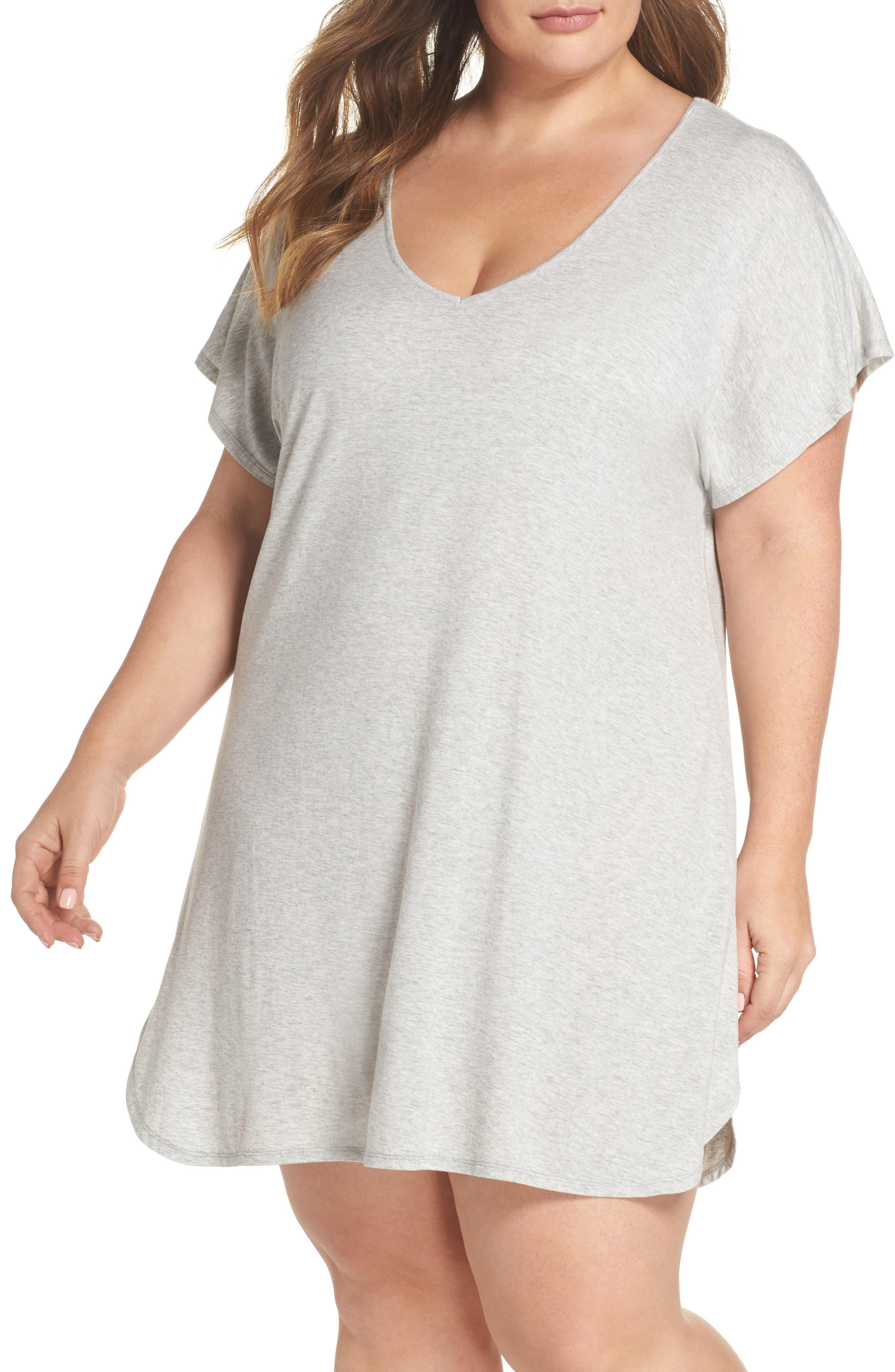 Dolman Sleeve Nightshirt,                         Main,                         color, Grey Pearl Heather
