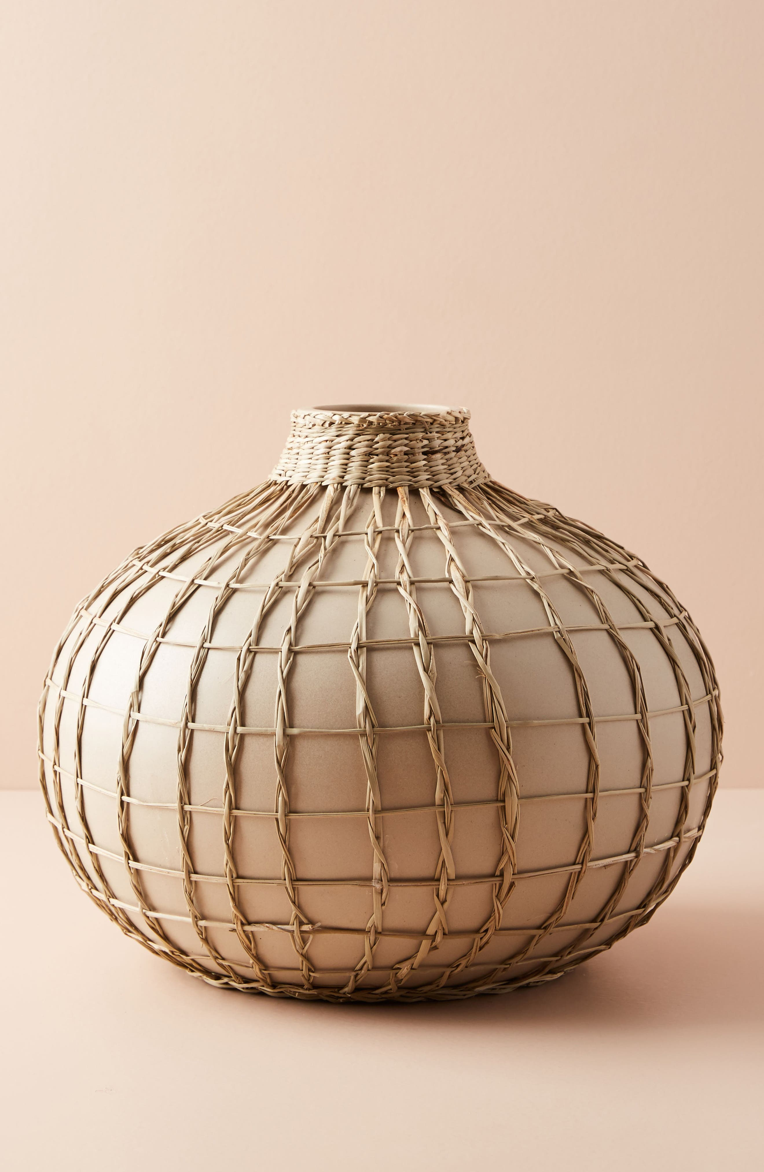 Wrapped Seagrass Vase,                         Main,                         color, Neutral