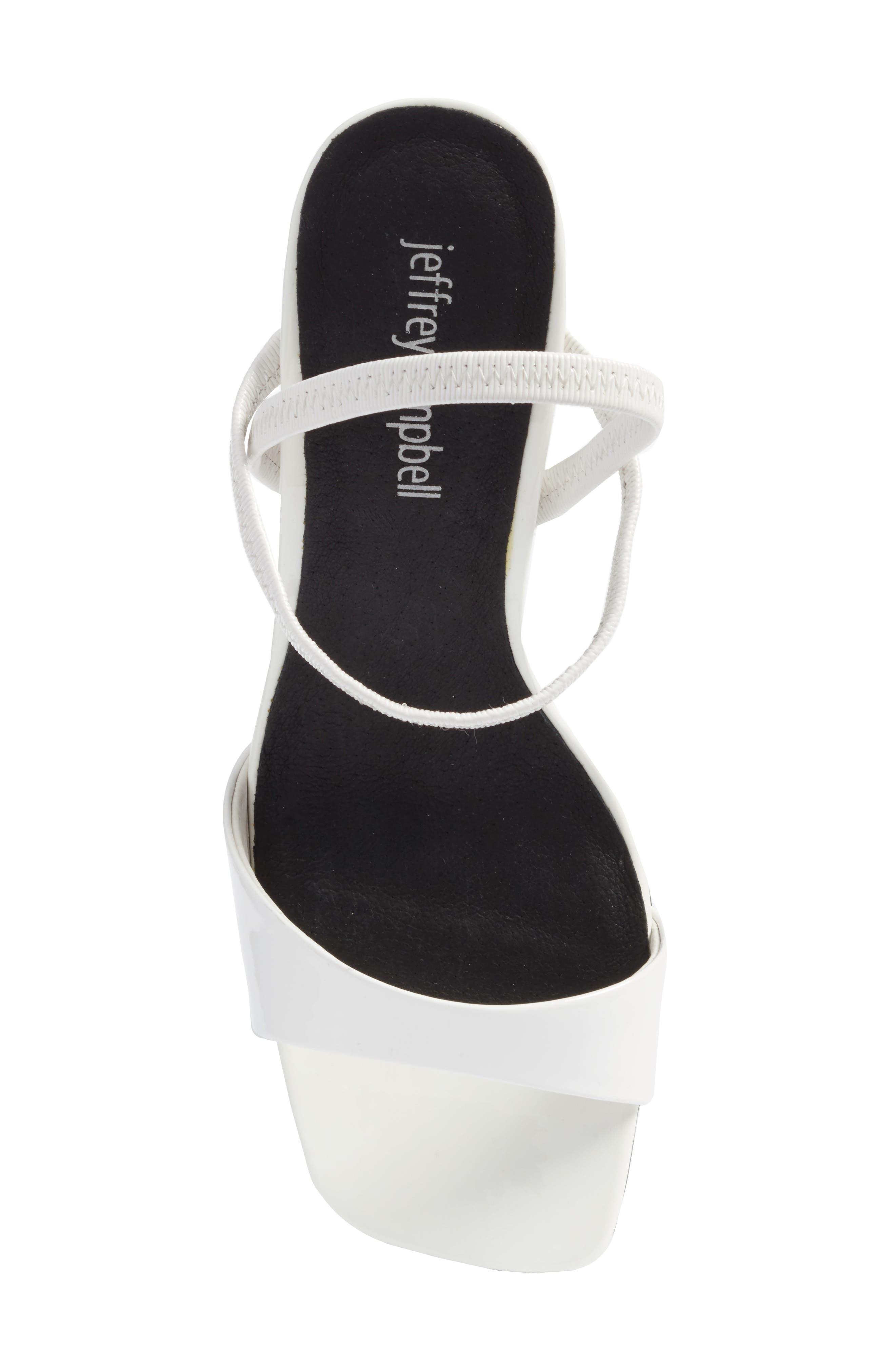 Carine Sandal,                             Alternate thumbnail 6, color,                             White Patent/ Clear