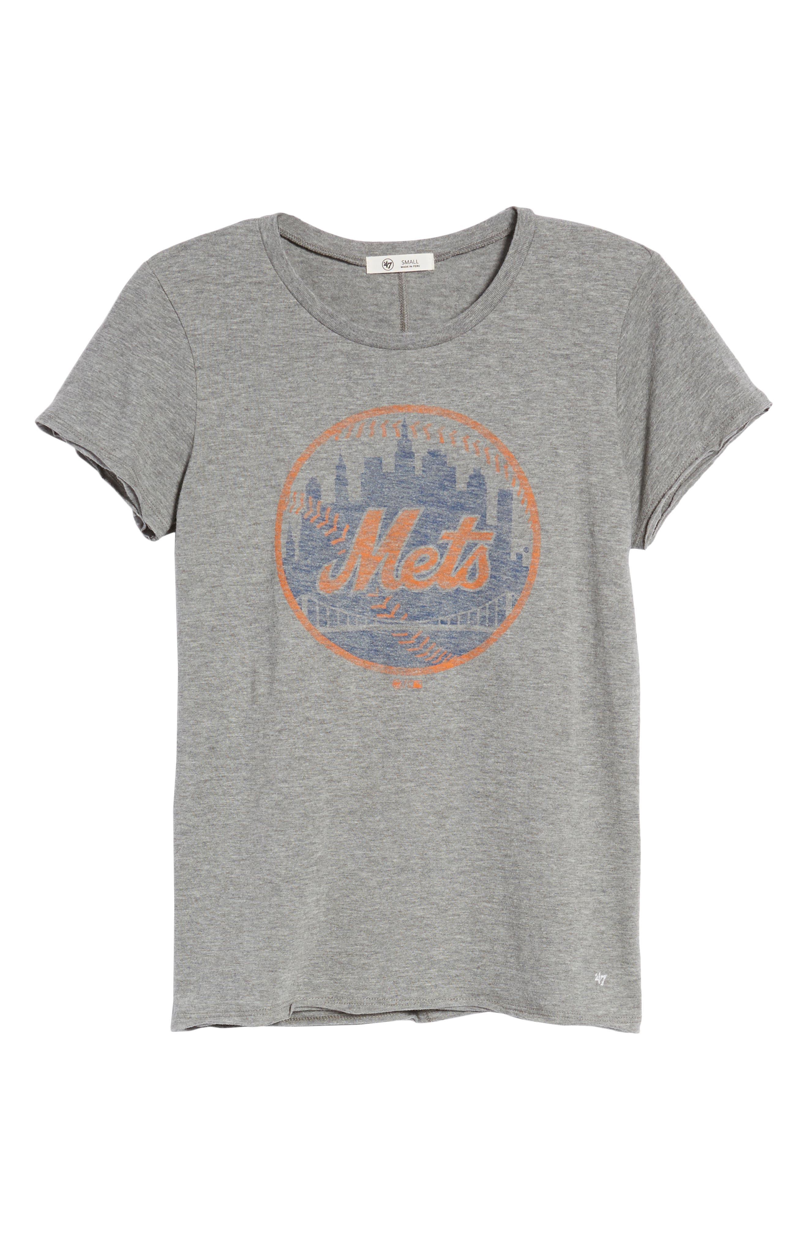 New York Mets Fader Letter Tee,                             Alternate thumbnail 6, color,                             Slate Grey