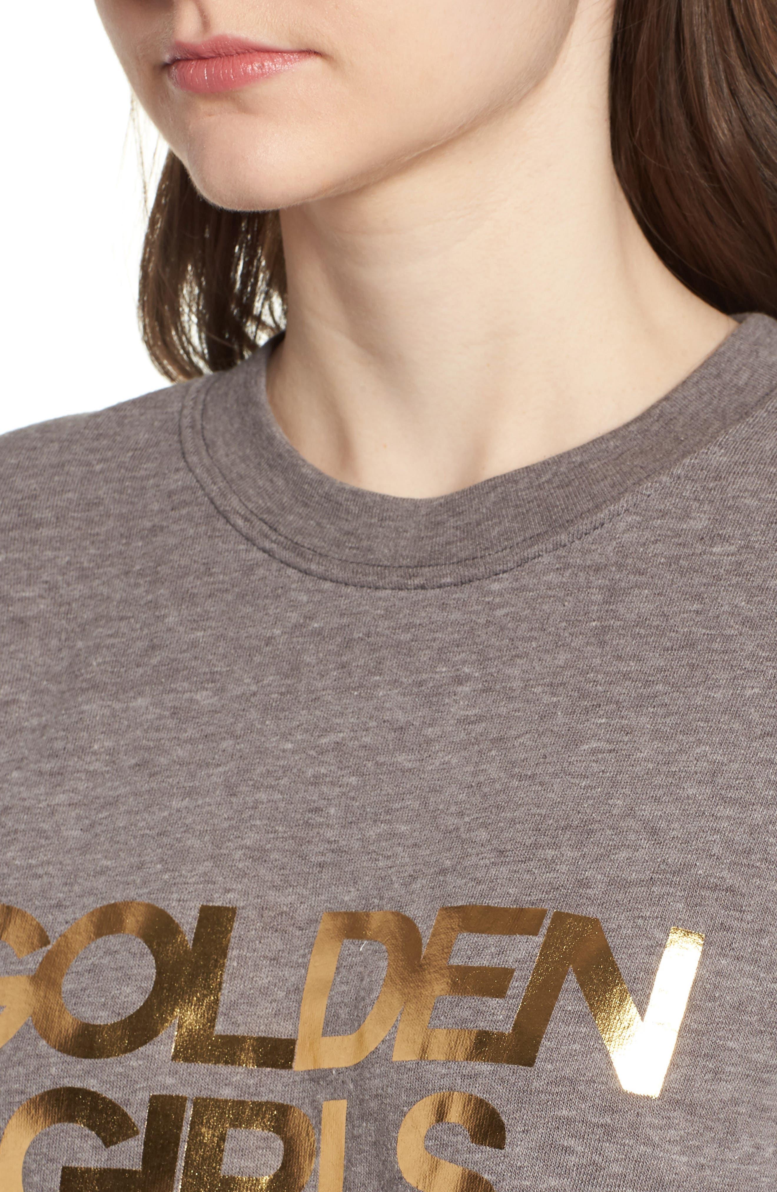Golden Girls Willow Sweatshirt,                             Alternate thumbnail 4, color,                             Heather Grey