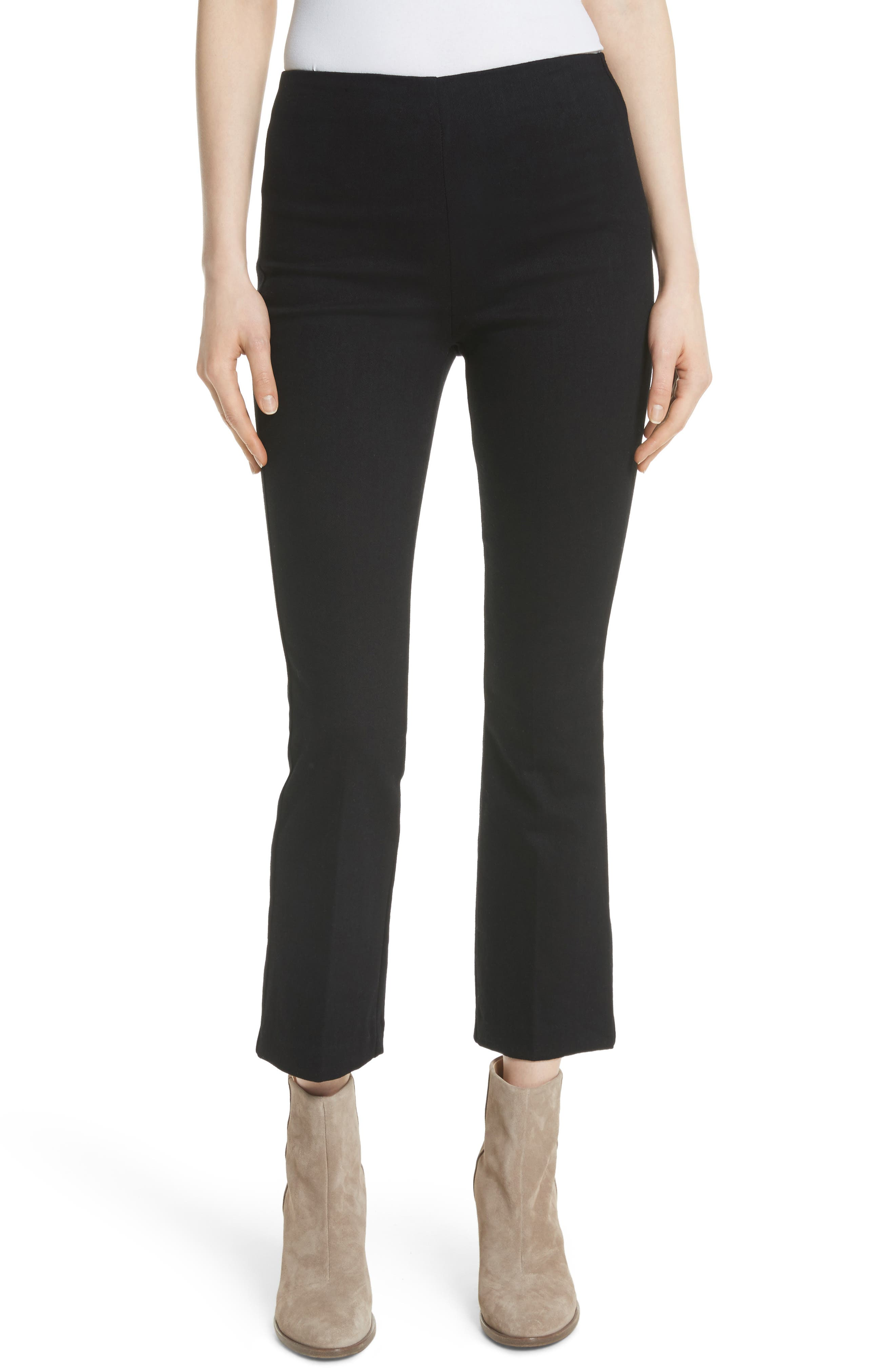 Hina High Rise Crop Pants,                         Main,                         color, Black