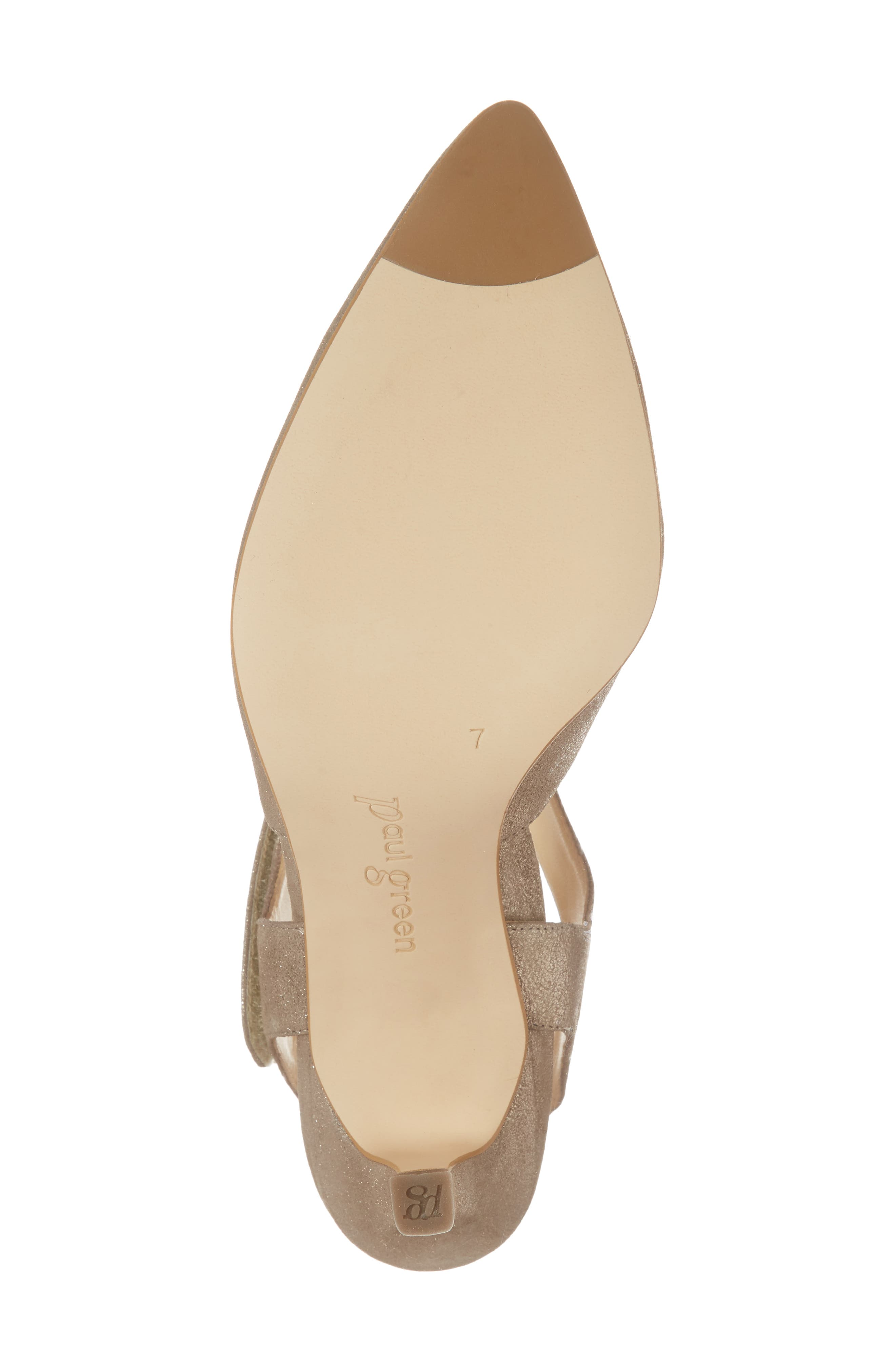 Nicolette Pointy Toe Pump,                             Alternate thumbnail 6, color,                             Champagne Metallic