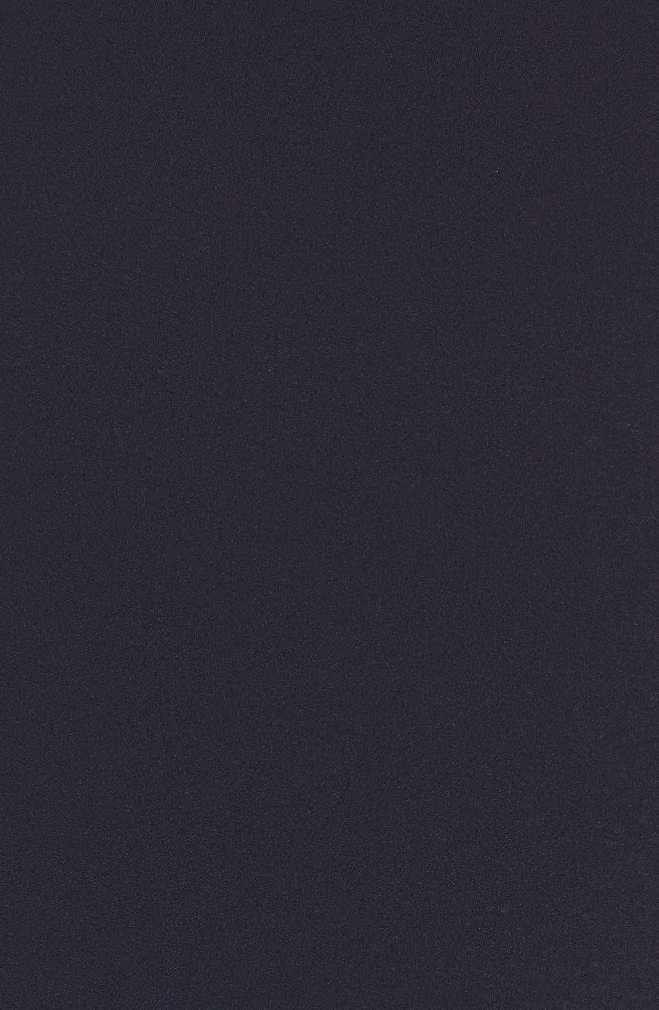 Ruffle Sleeve Scuba Crepe A-Line Dress,                             Alternate thumbnail 5, color,                             Navy