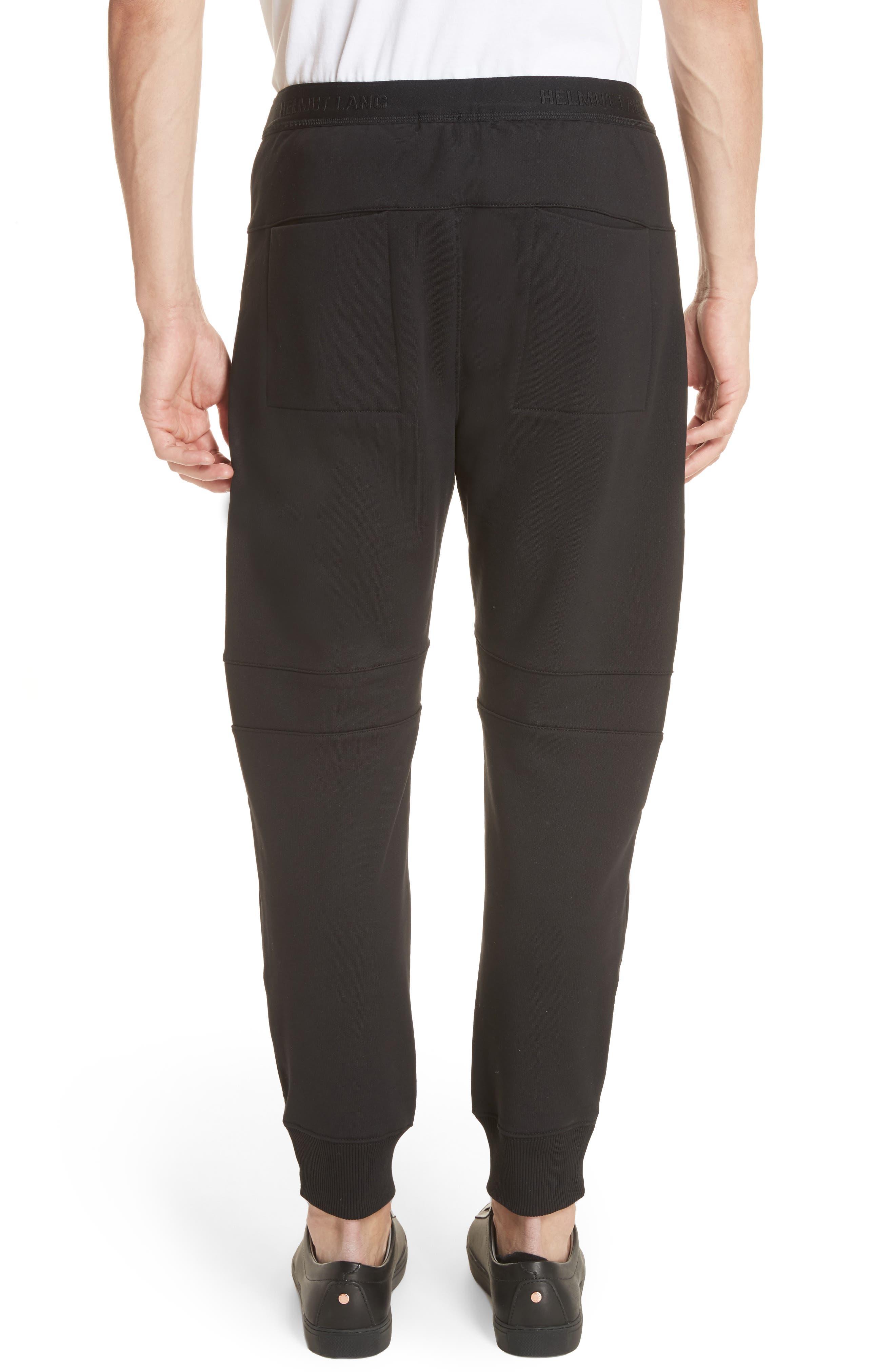 Zip Jogger Pants,                             Alternate thumbnail 2, color,                             Black