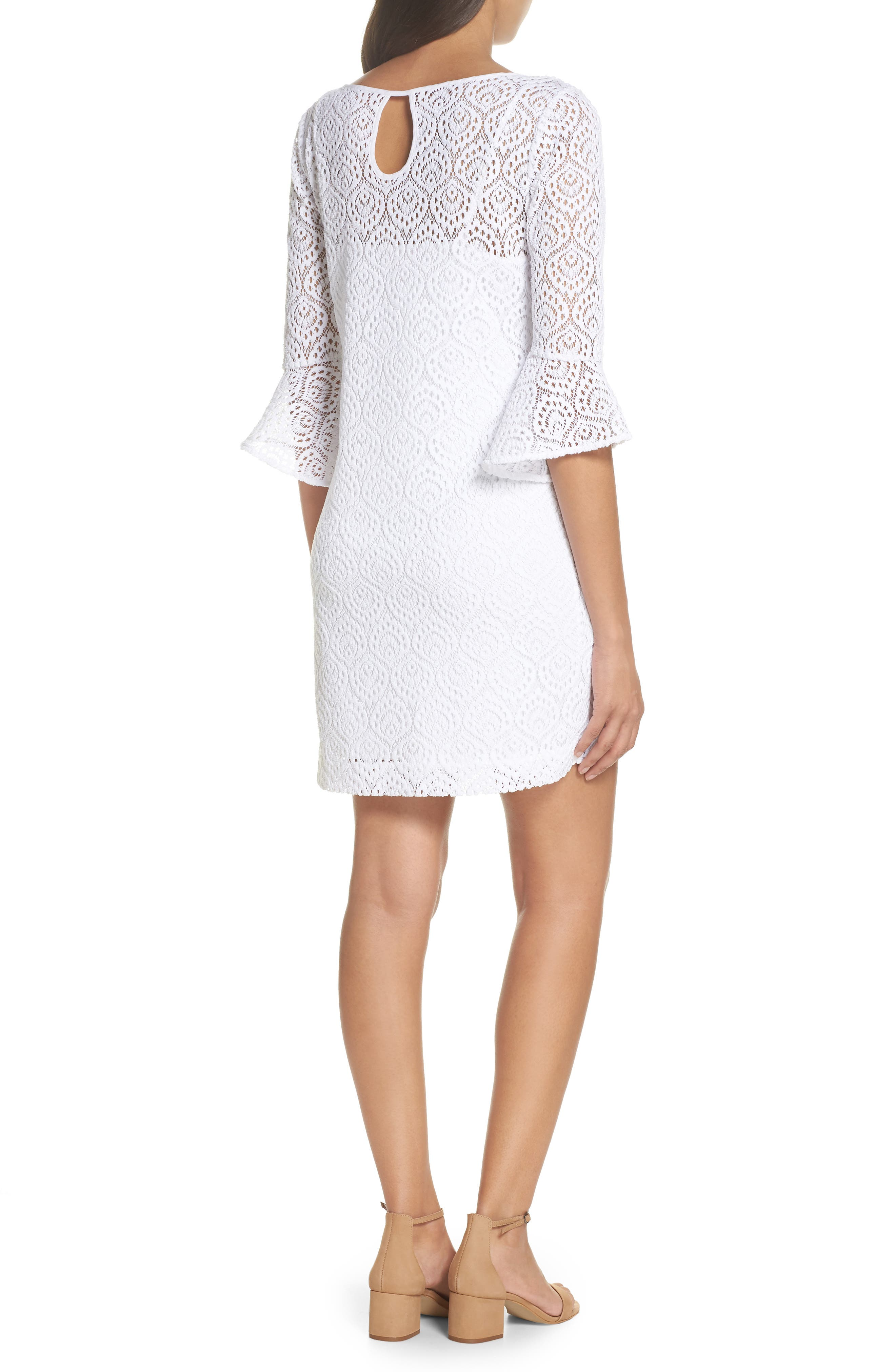 Fontaine Lace Minidress,                             Alternate thumbnail 2, color,                             Resort White Gypsea Lace