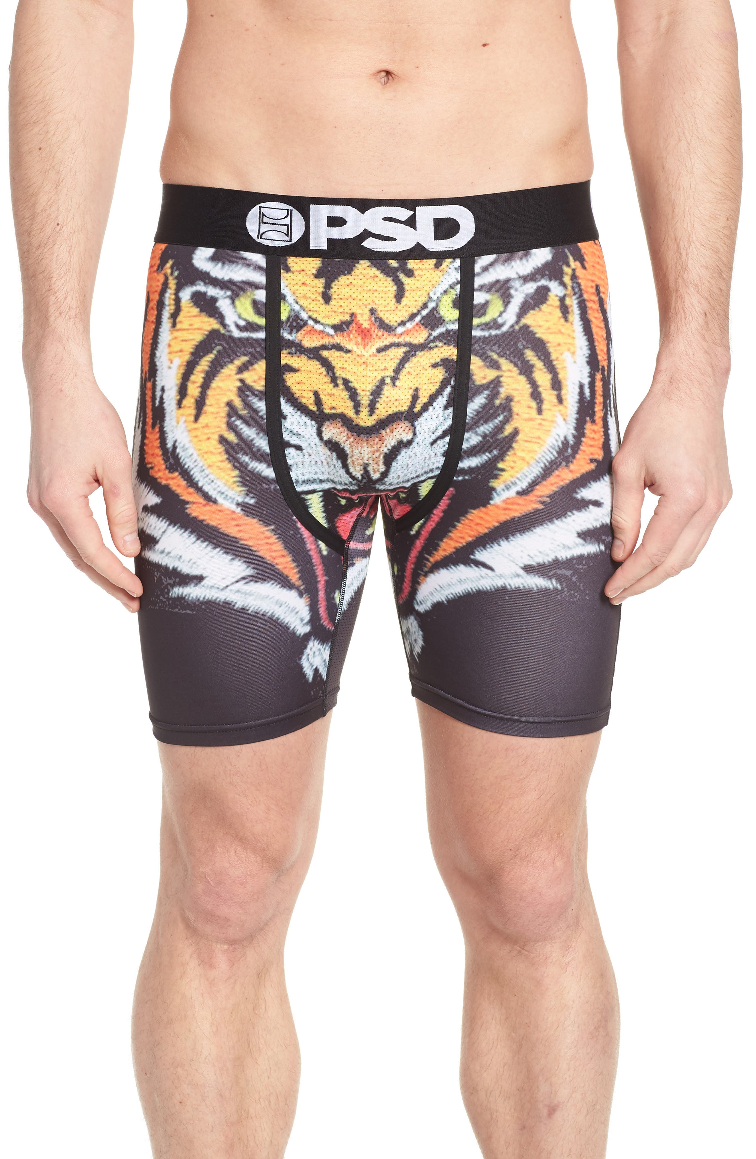 Souvenir Tiger Wings Boxer Briefs,                         Main,                         color, Black