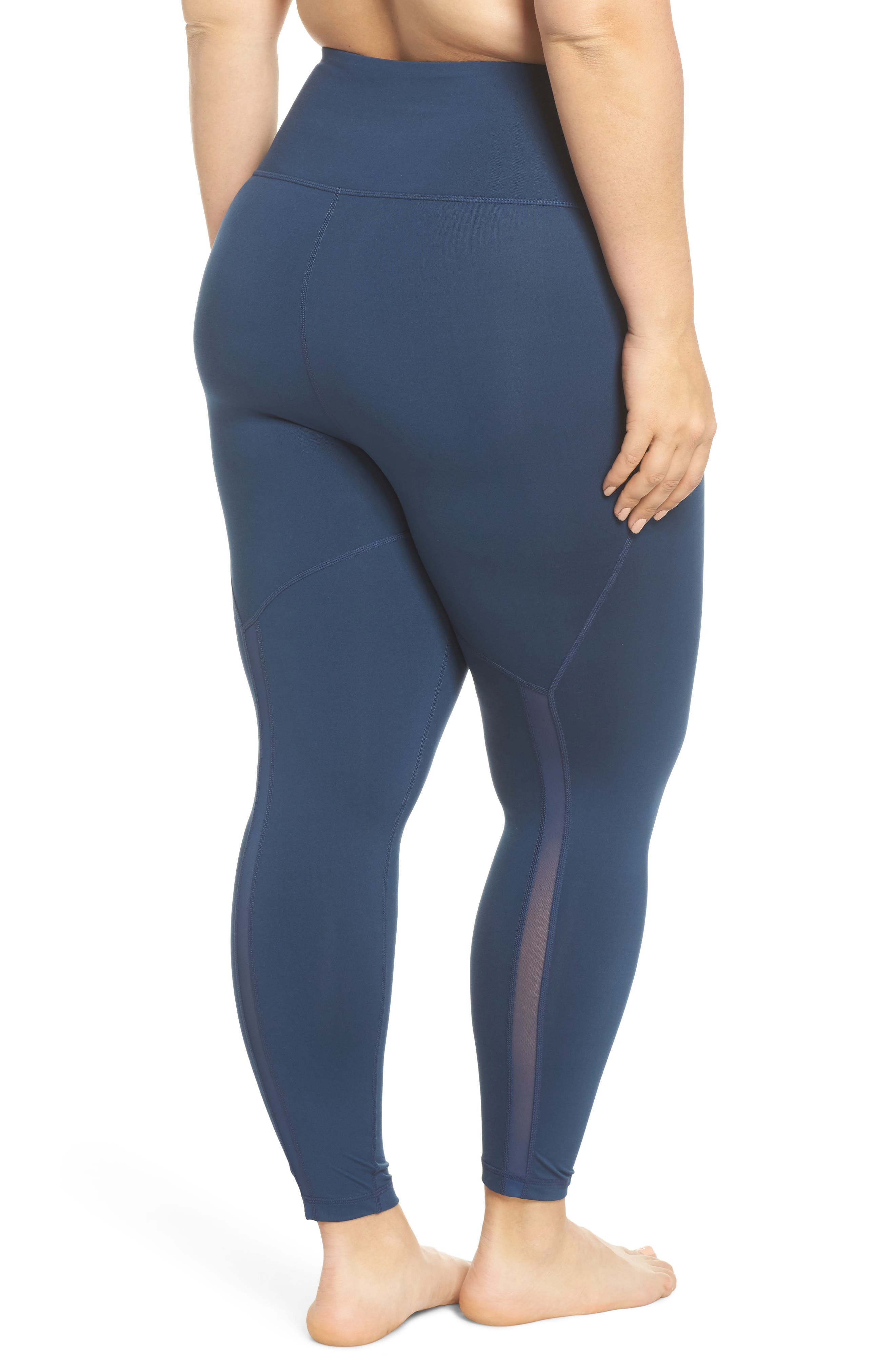 Lightweight High Waist Midi Leggings,                             Alternate thumbnail 2, color,                             Blue Insignia
