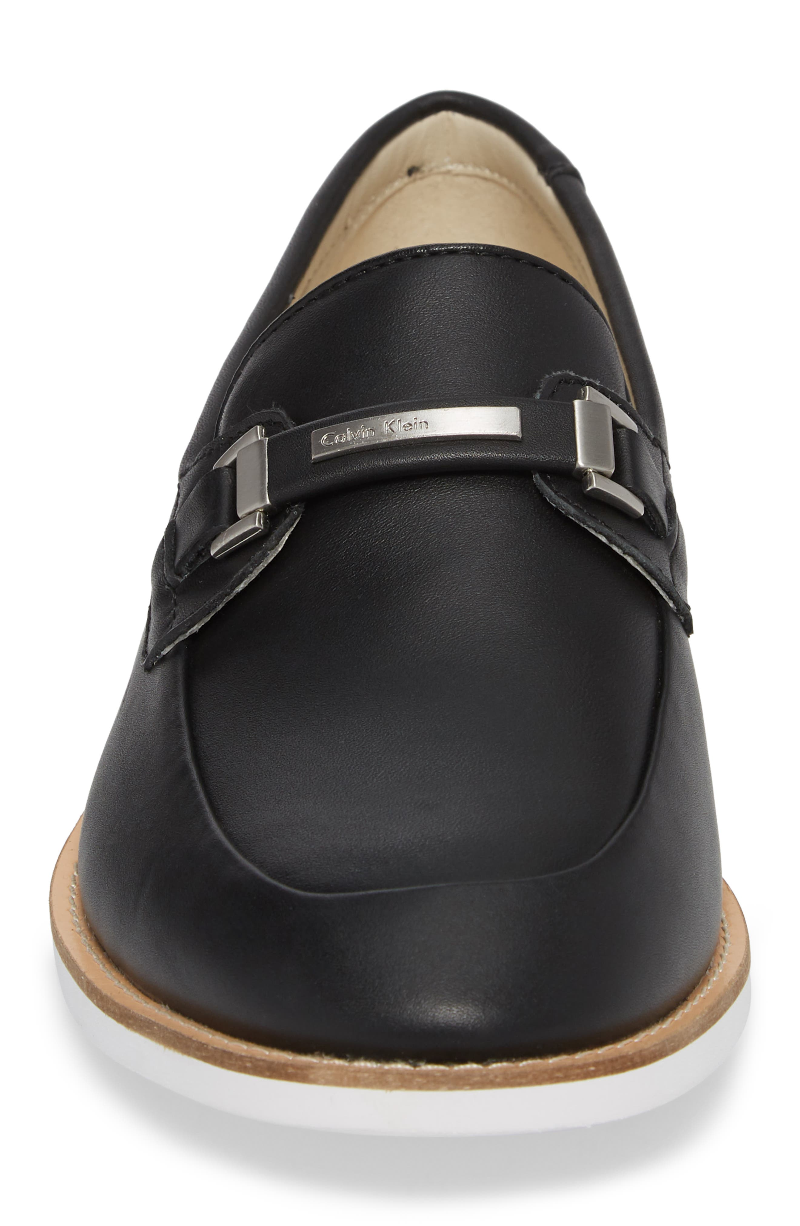 Adler Bit Loafer,                             Alternate thumbnail 4, color,                             Black Leather