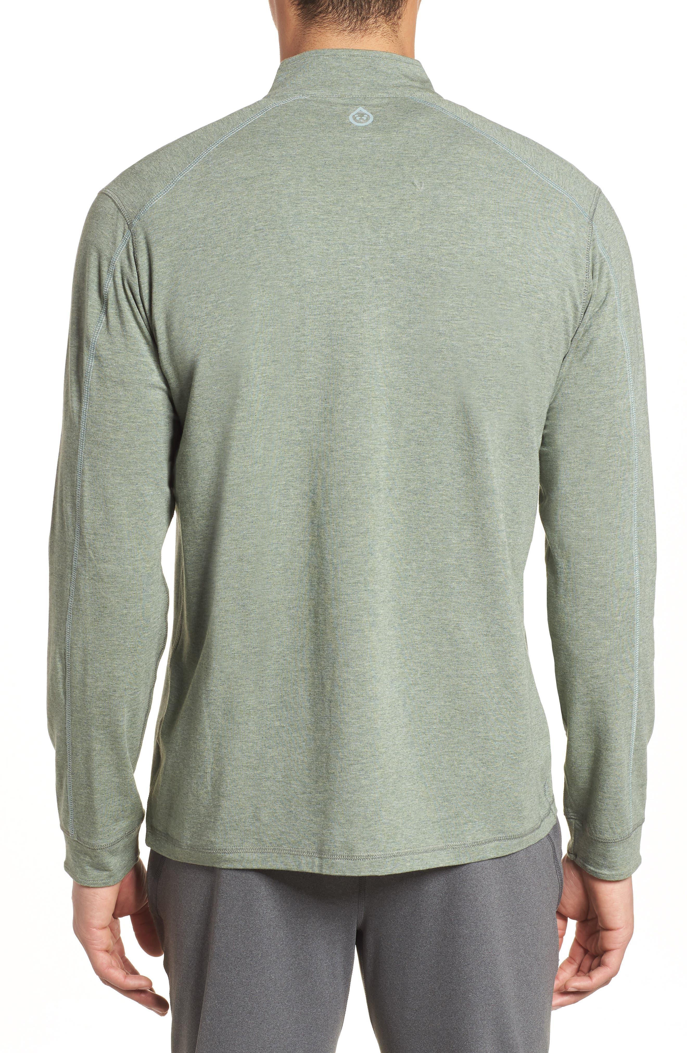 Carrollton Quarter Zip Sweatshirt,                             Alternate thumbnail 2, color,                             Kelp Heather