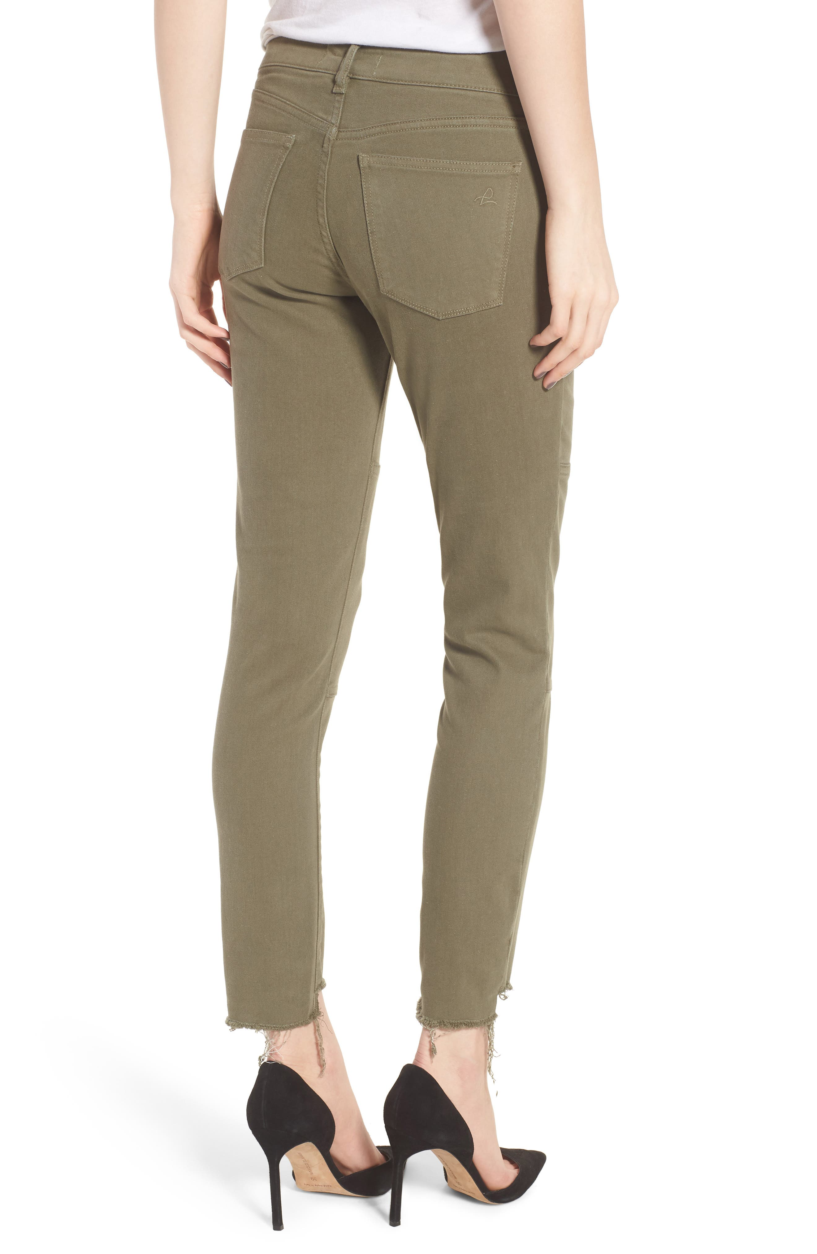 Margaux Instasculpt Ankle Skinny Jeans,                             Alternate thumbnail 2, color,                             Cargo Green