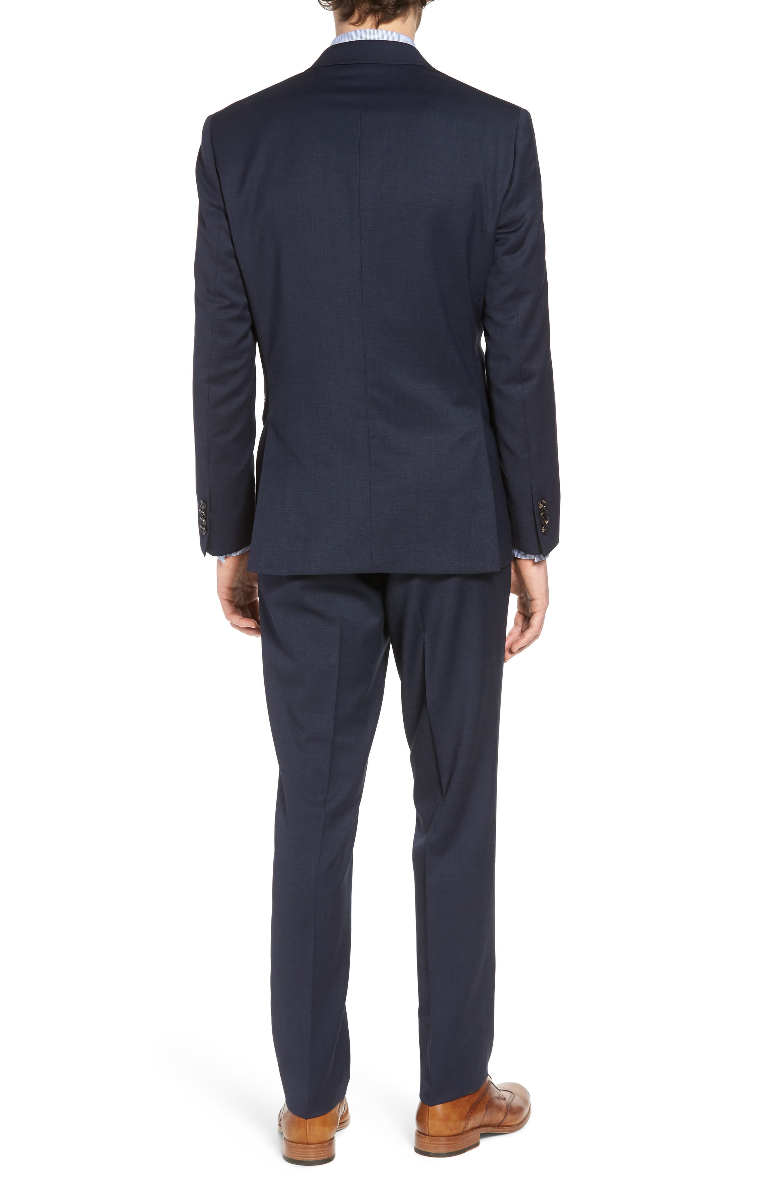 Jay Trim Fit Solid Wool Suit,                             Alternate thumbnail 2, color,                             Navy