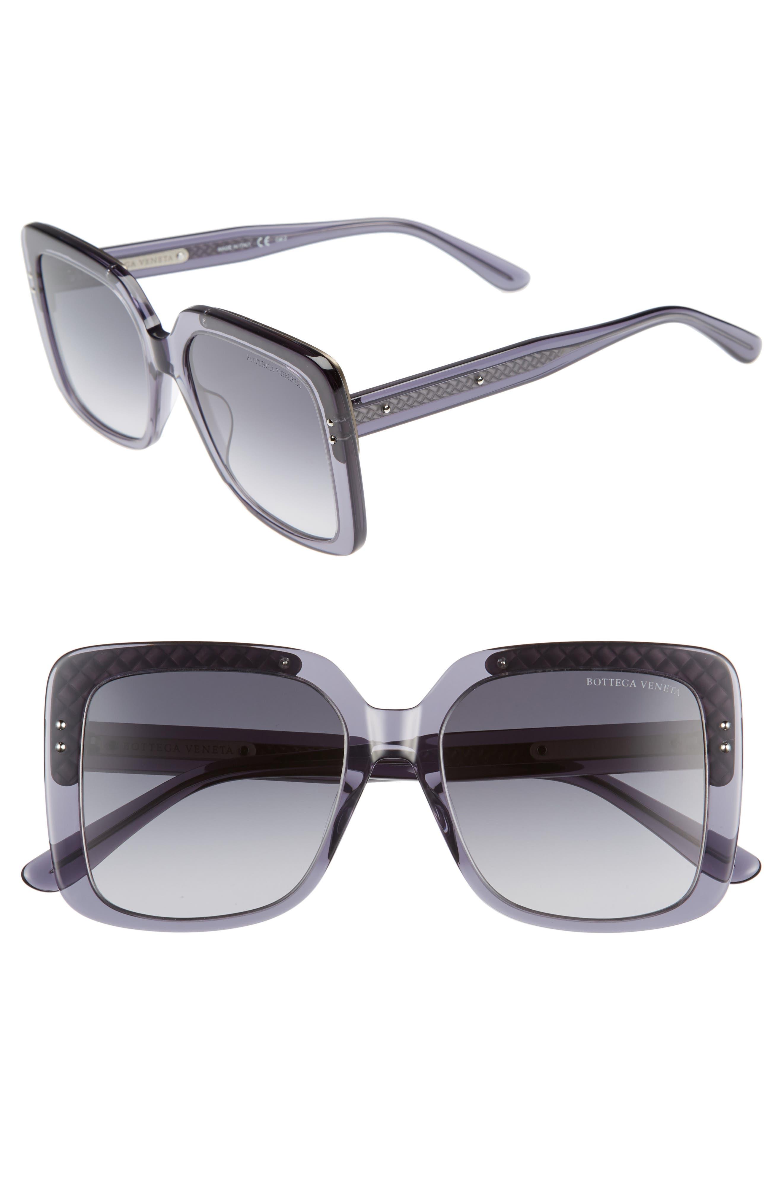Bottega Veneta 54mm Square Lens Sunglasses