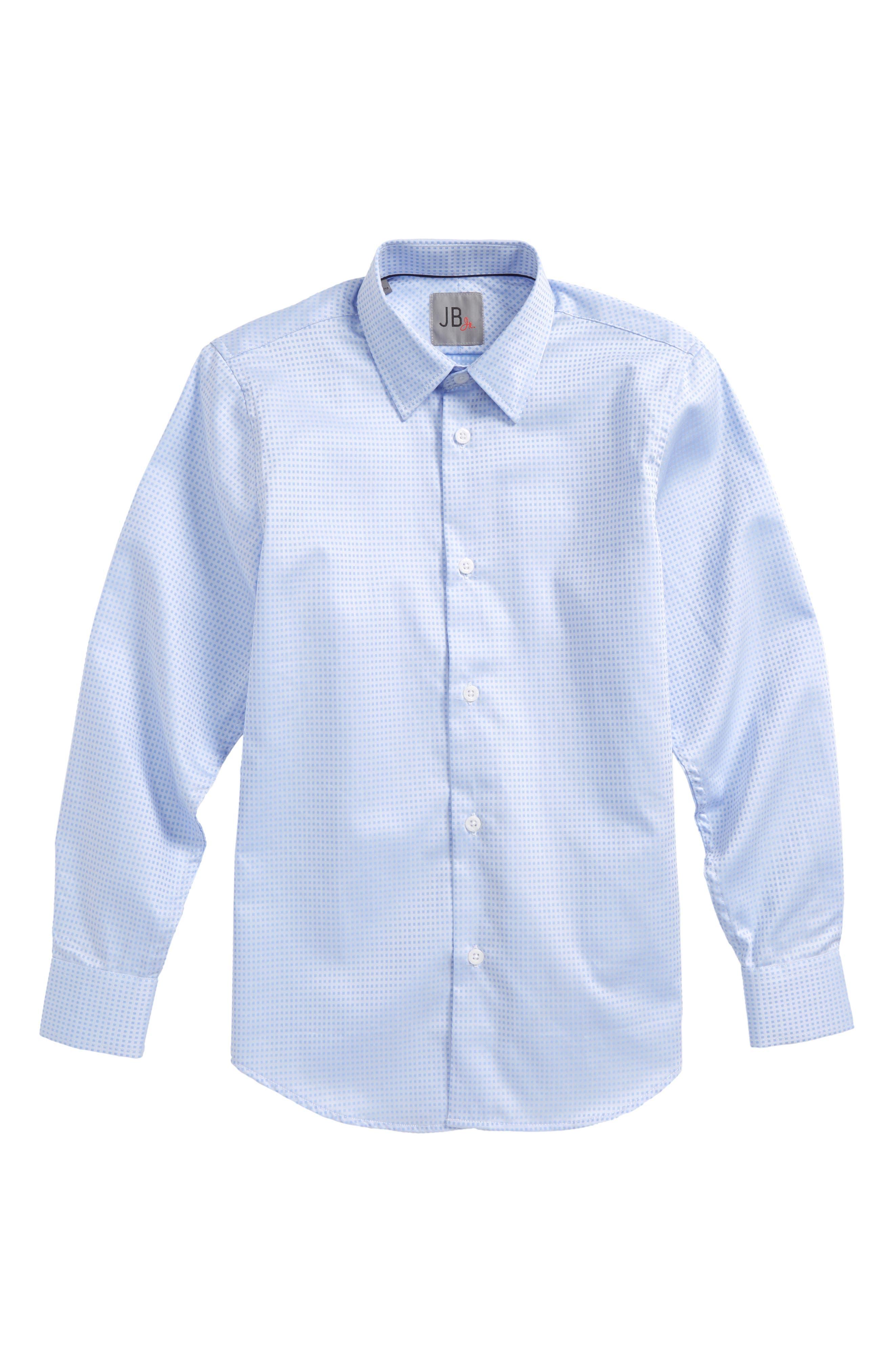 Microcheck Dress Shirt,                             Main thumbnail 1, color,                             Lt Blue Check