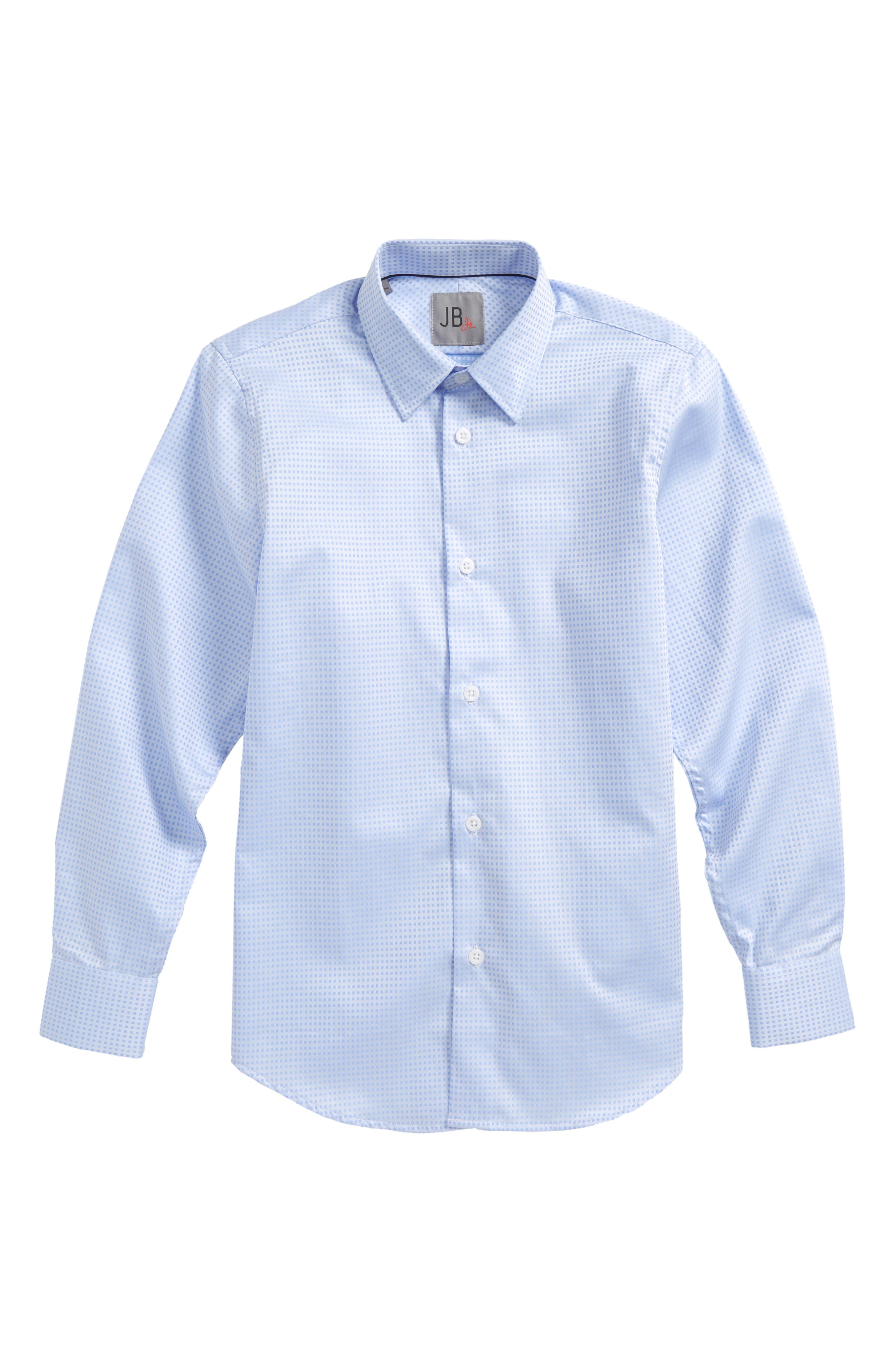 JB Jr Microcheck Dress Shirt (Big Boys)