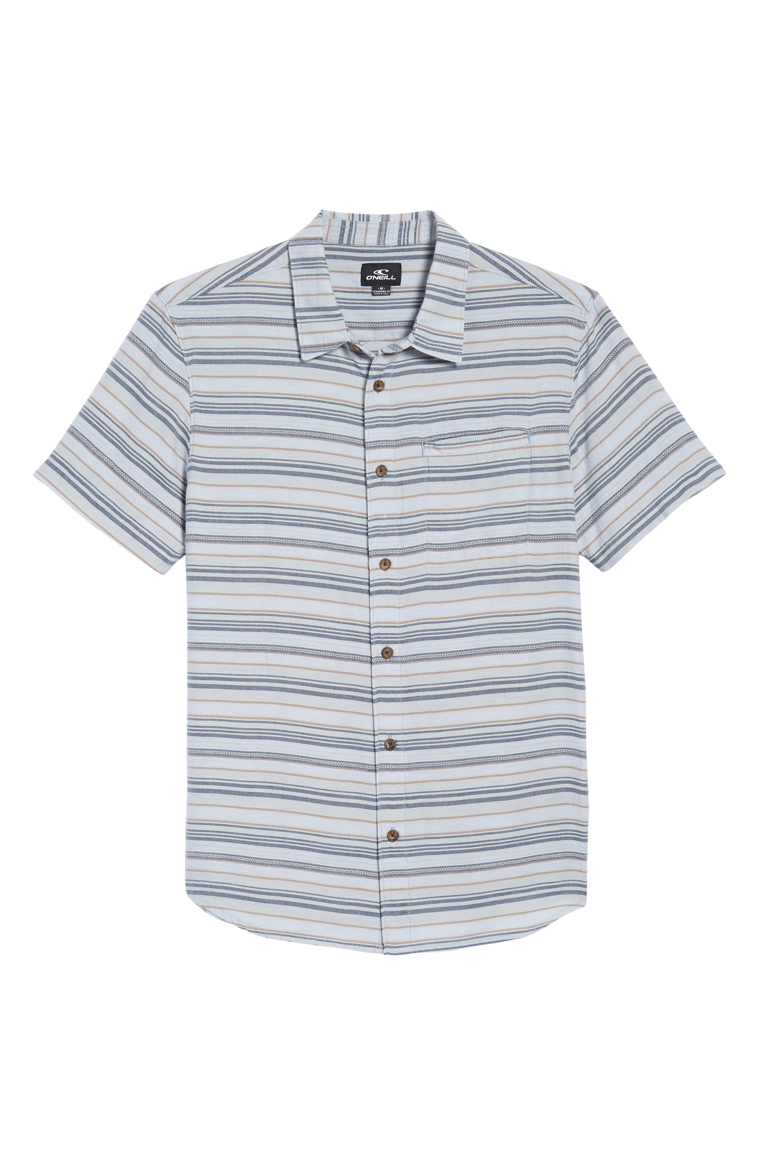 Currington Short Sleeve Shirt,                             Alternate thumbnail 6, color,                             Light Blue
