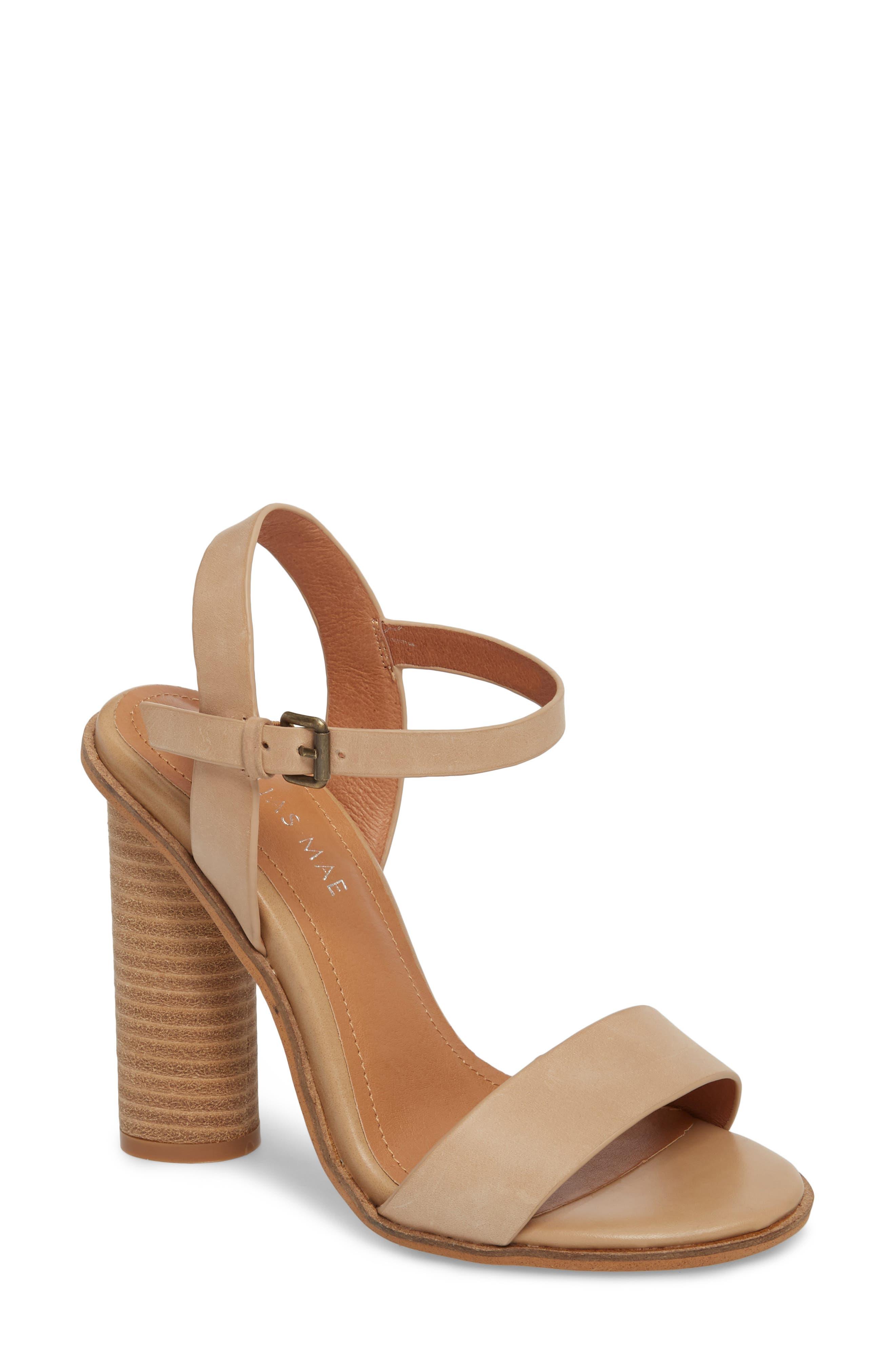 Abagail Sandal,                         Main,                         color, Natural Leather