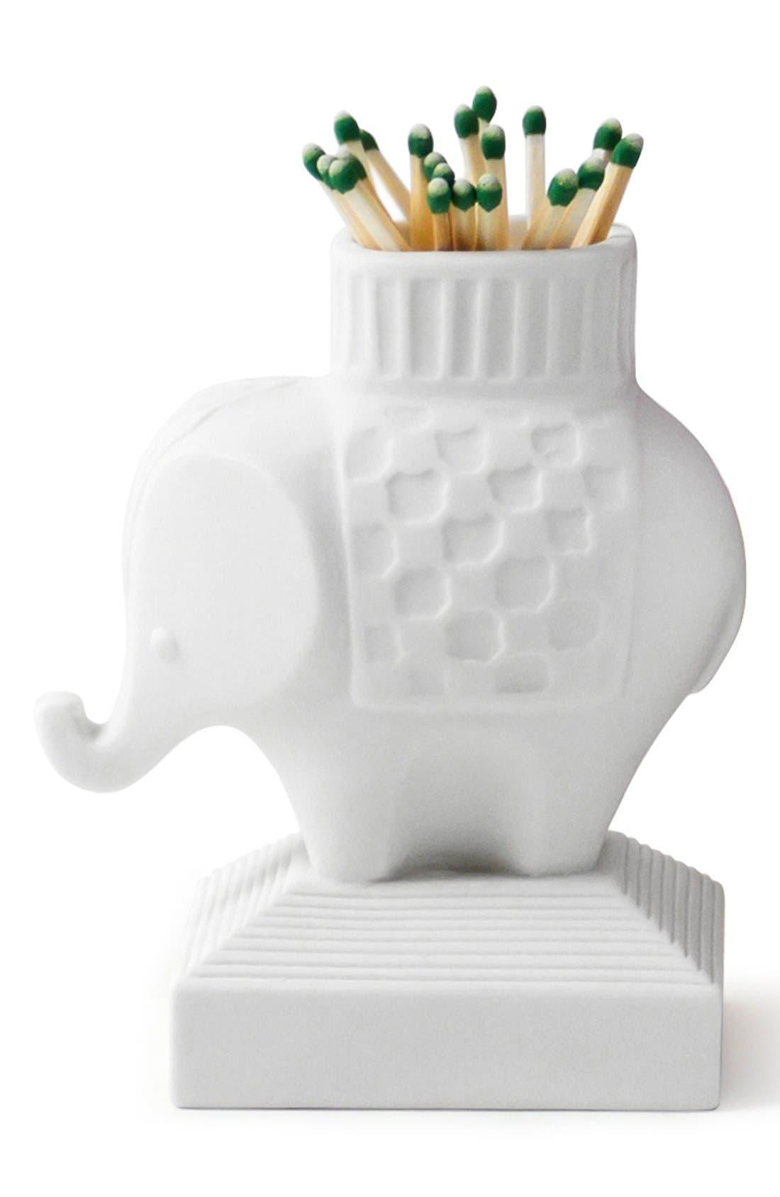 Alternate Image 2  - Jonathan Adler Porcelain Elephant Match Strike