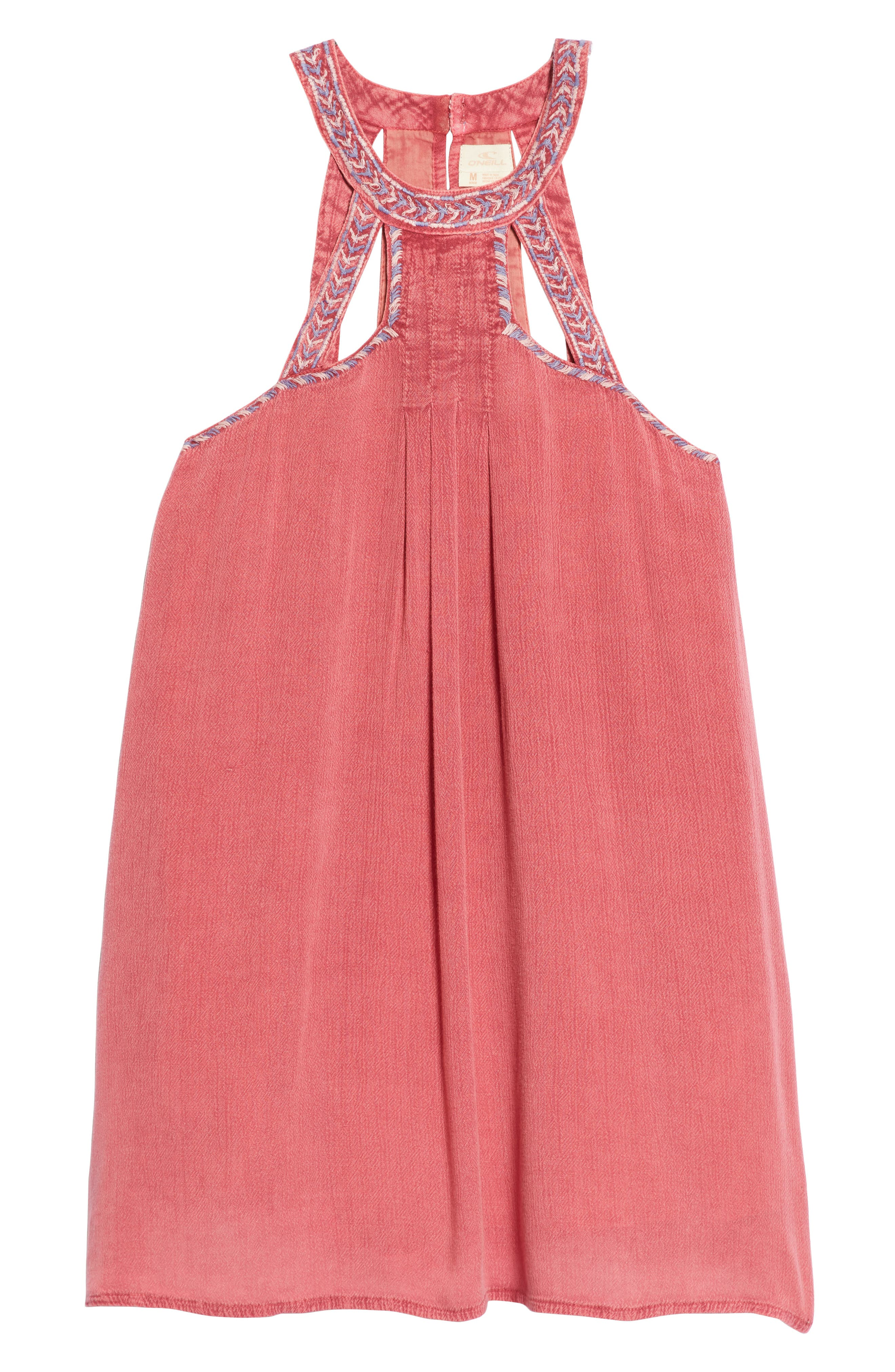 Leighton Embroidered Swing Dress,                             Main thumbnail 1, color,                             Magenta Haze