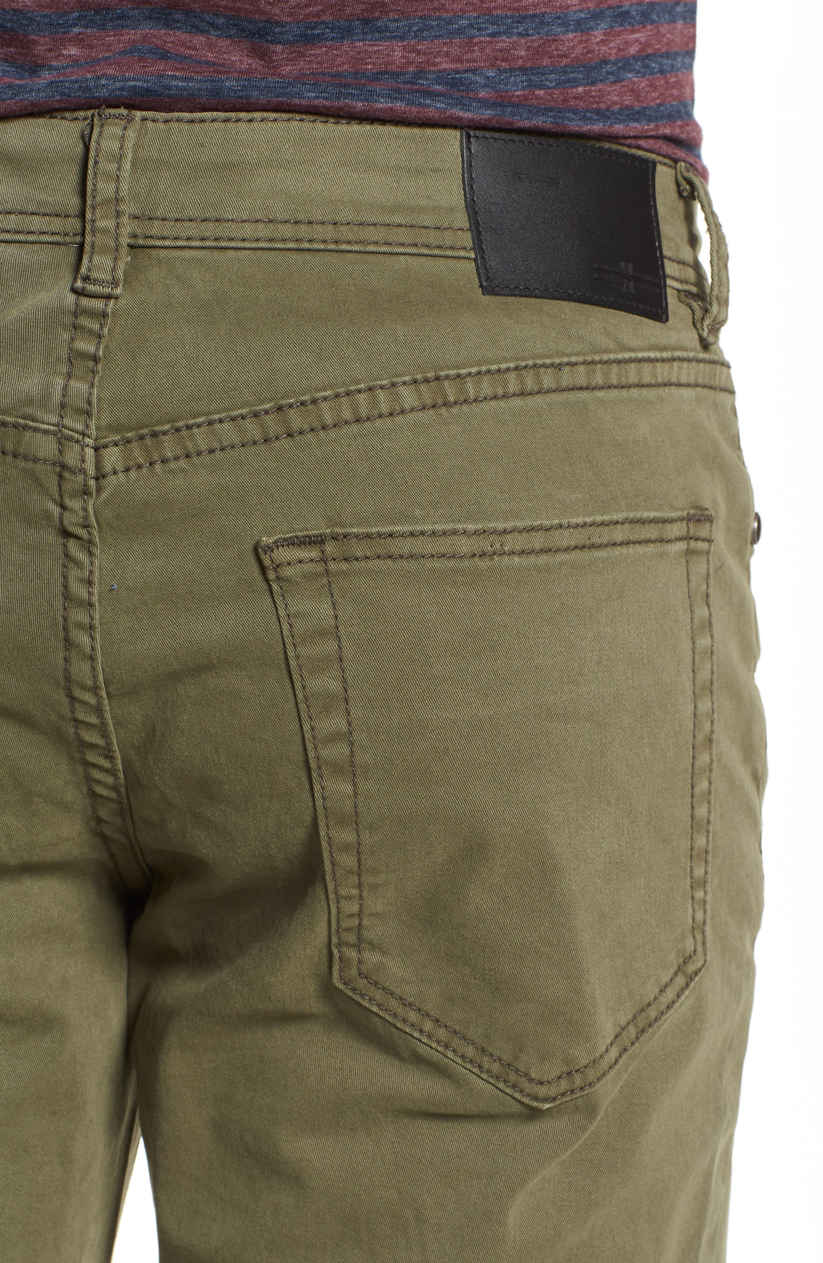 Jeans Co. Regent Relaxed Fit Jeans,                             Alternate thumbnail 4, color,                             Olive Night