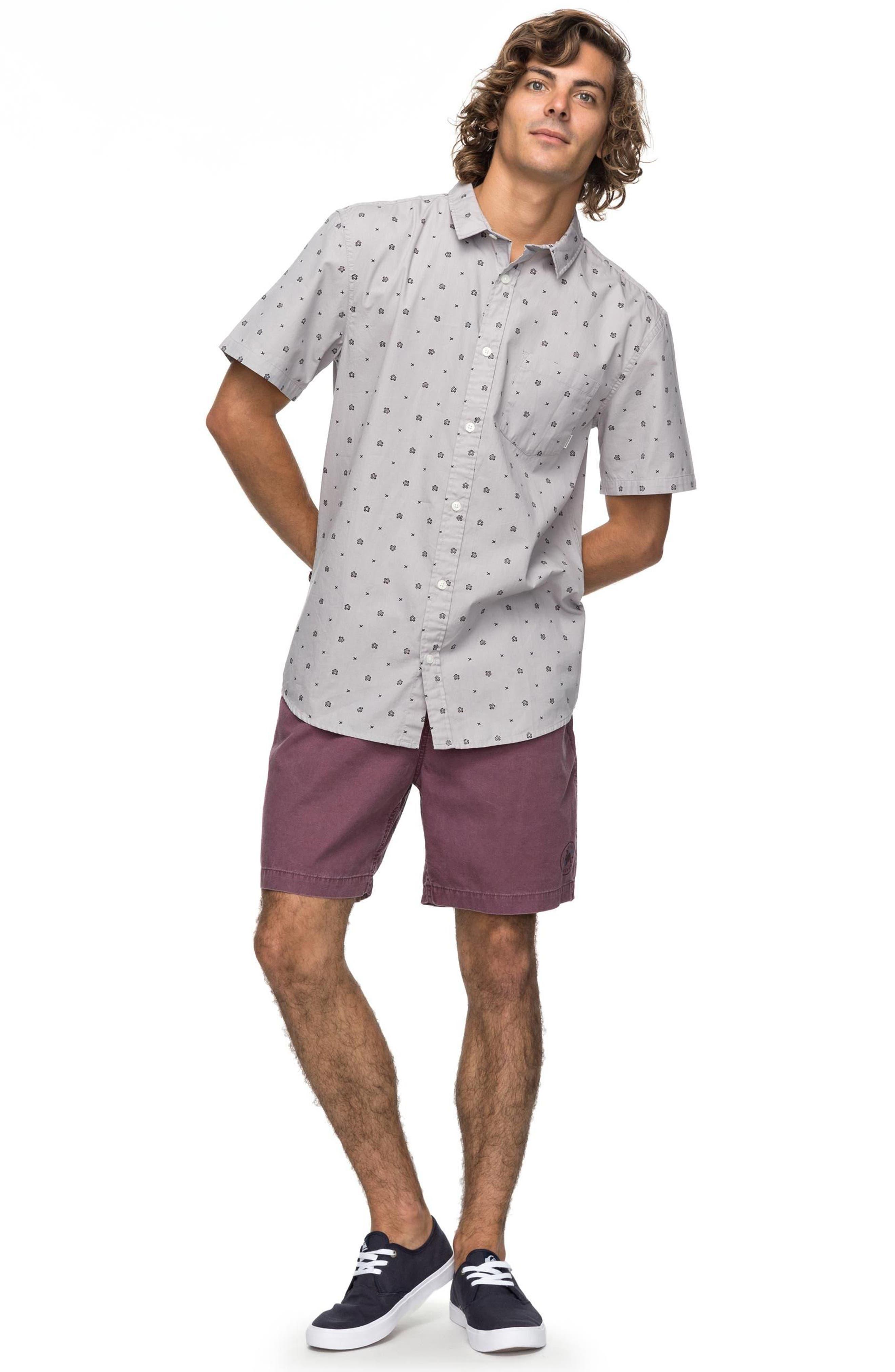 Kamanoa Short Sleeve Shirt,                             Alternate thumbnail 3, color,                             Silver Sconce