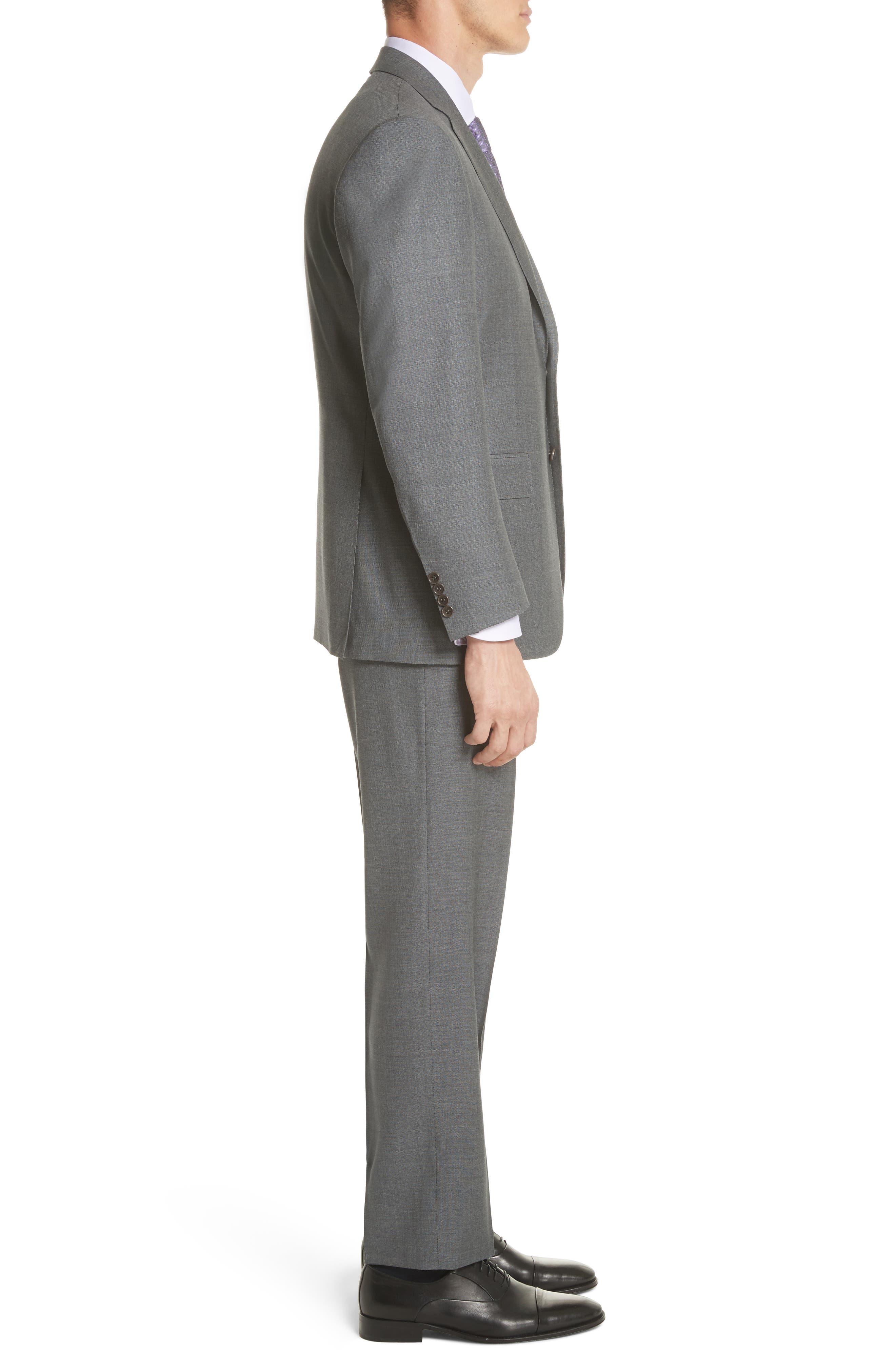 Classic Fit Wool Suit,                             Alternate thumbnail 3, color,                             Grey