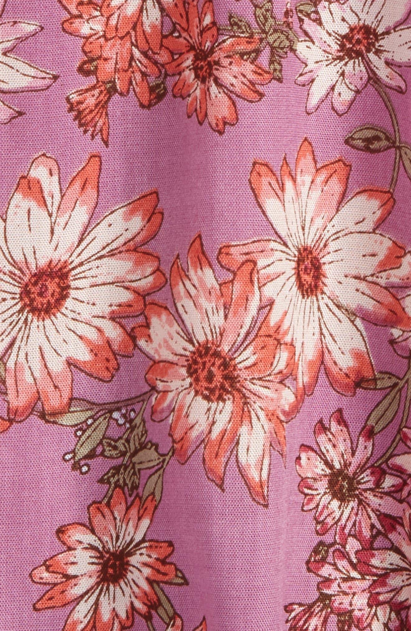 Sallie Floral Dress,                             Alternate thumbnail 3, color,                             Dusty Lavender