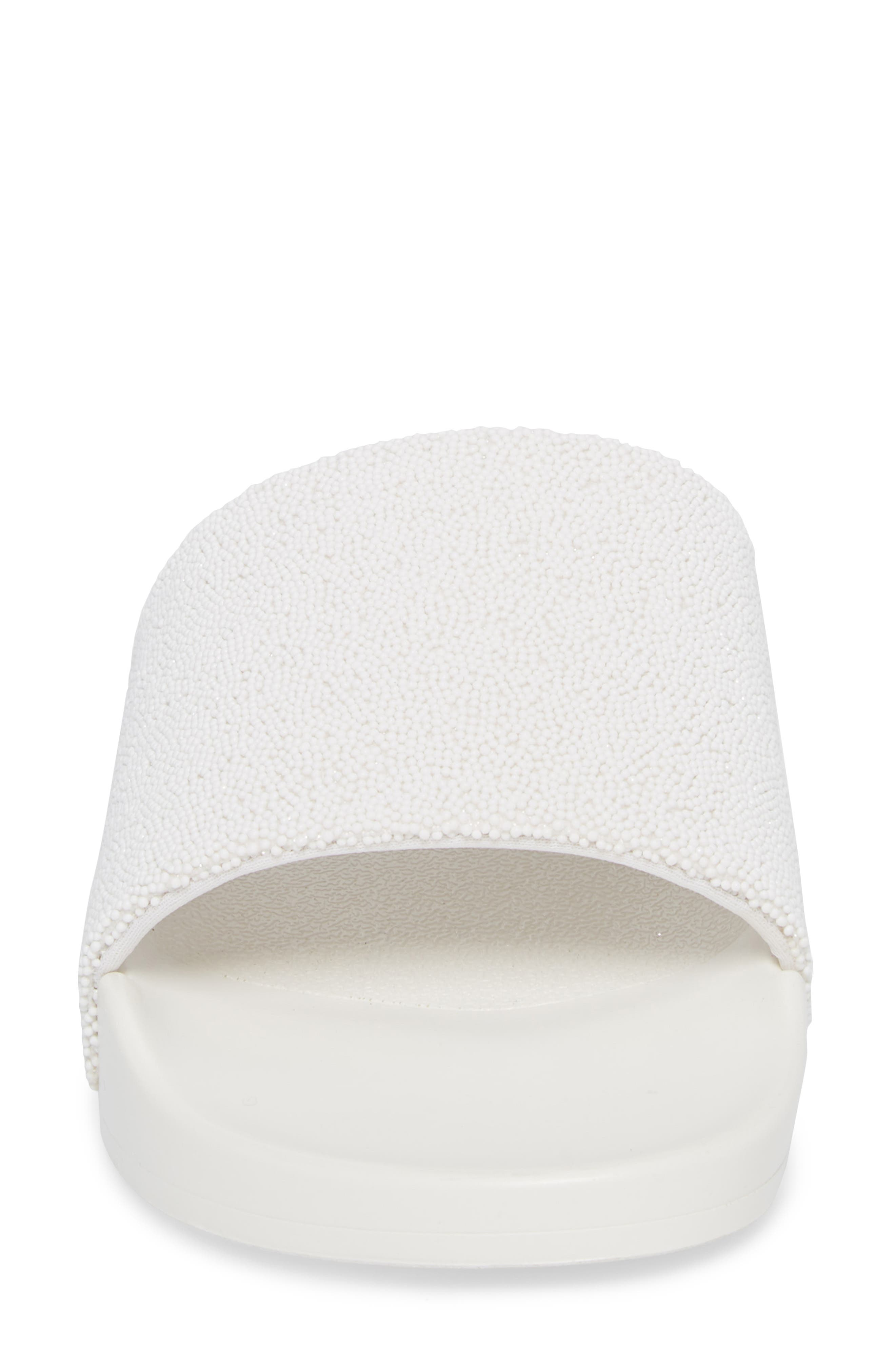 The Jimmi Slide Sandal,                             Alternate thumbnail 4, color,                             White