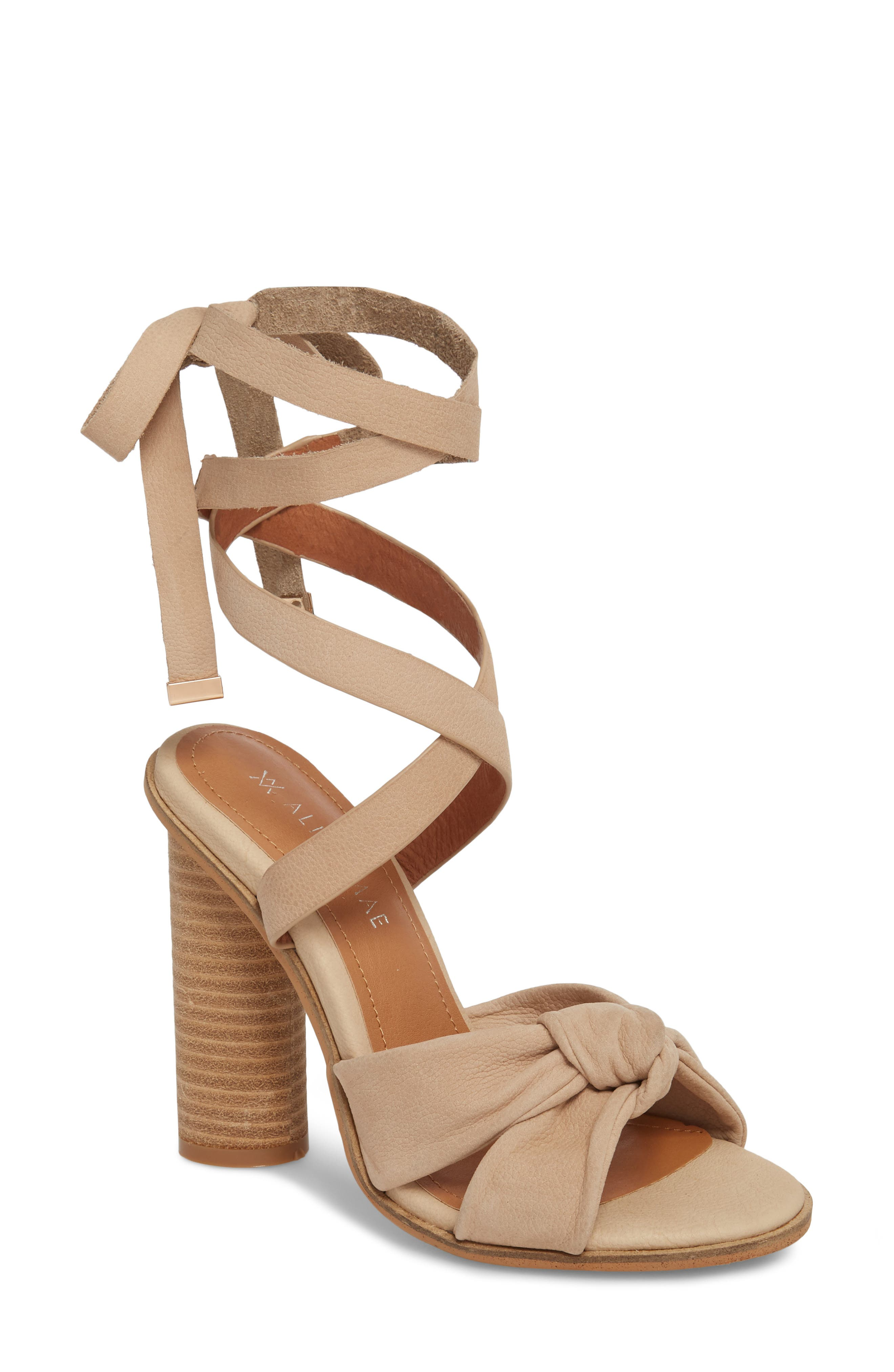 Africa Ankle Wrap Sandal,                         Main,                         color, Natural Leather
