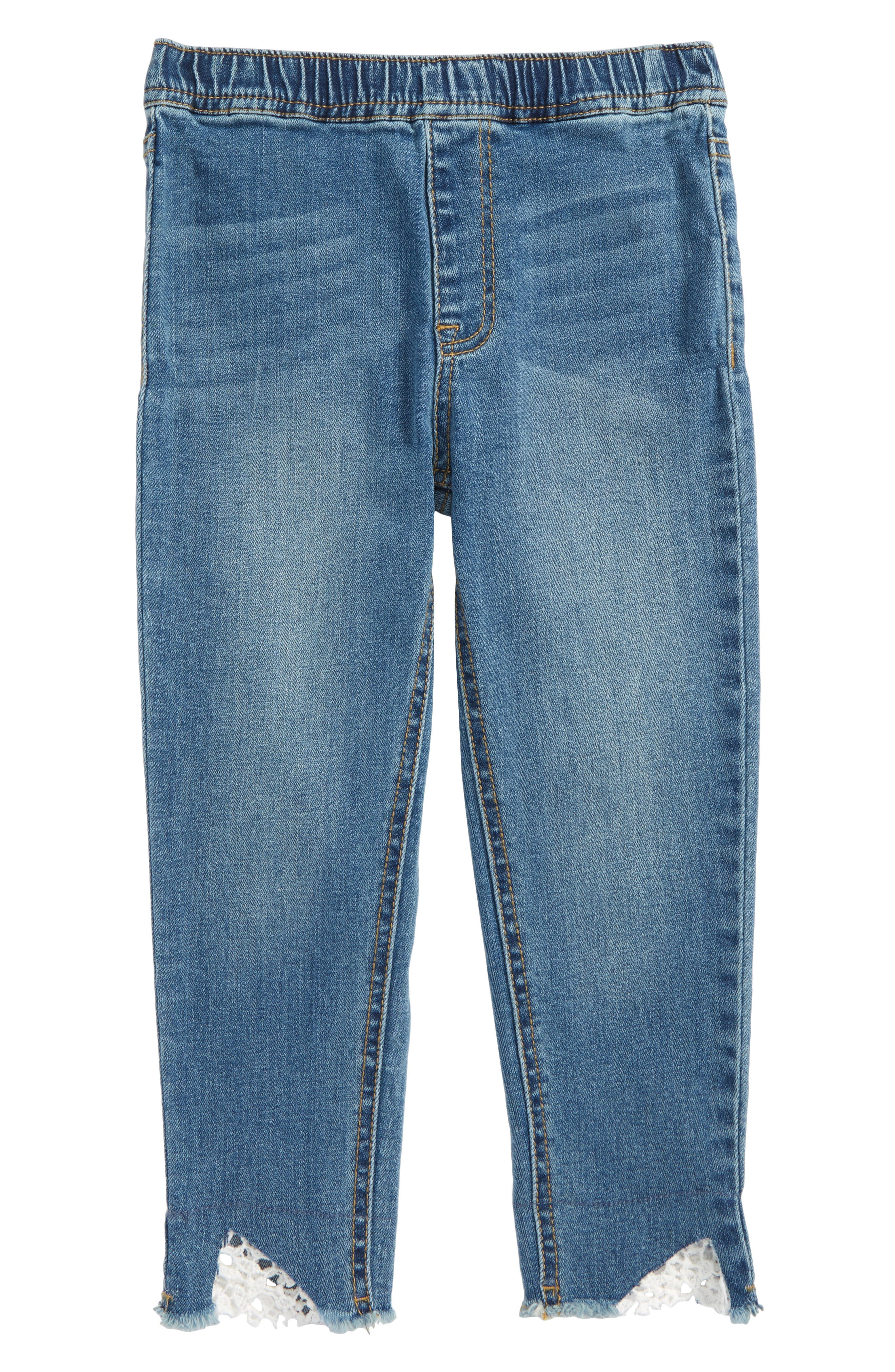 Crop Jeans,                         Main,                         color, Lagoon Wash