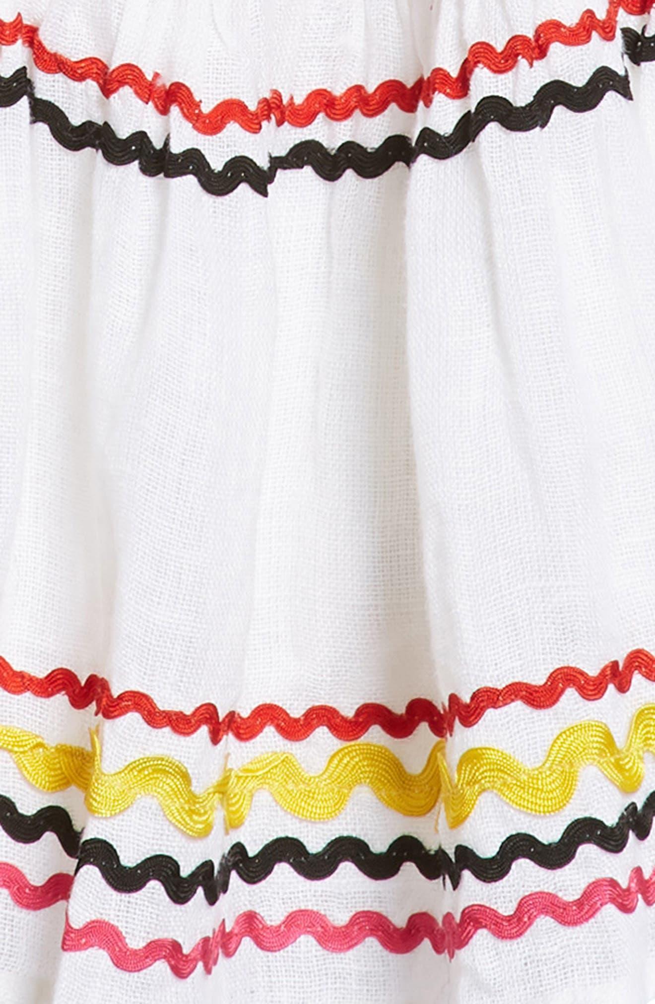 Mira Linen Dress,                             Alternate thumbnail 2, color,                             Wht-Mlt