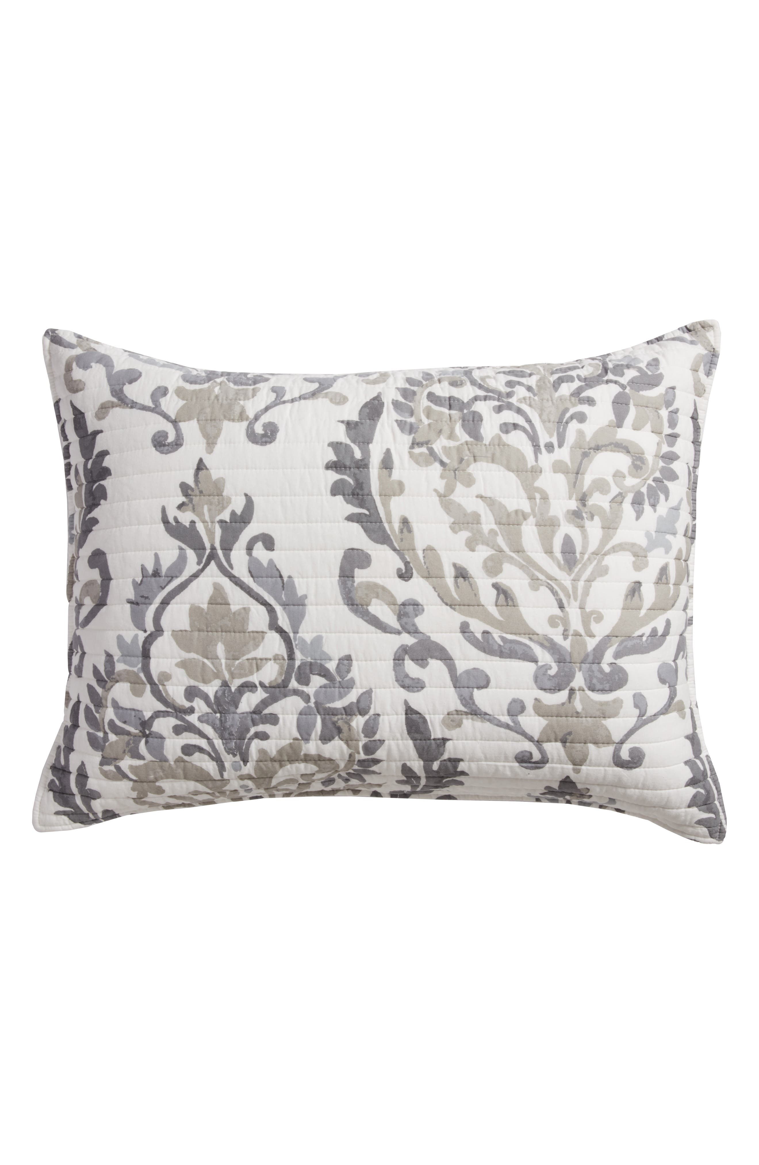 Arden Standard Sham,                             Main thumbnail 1, color,                             Grey