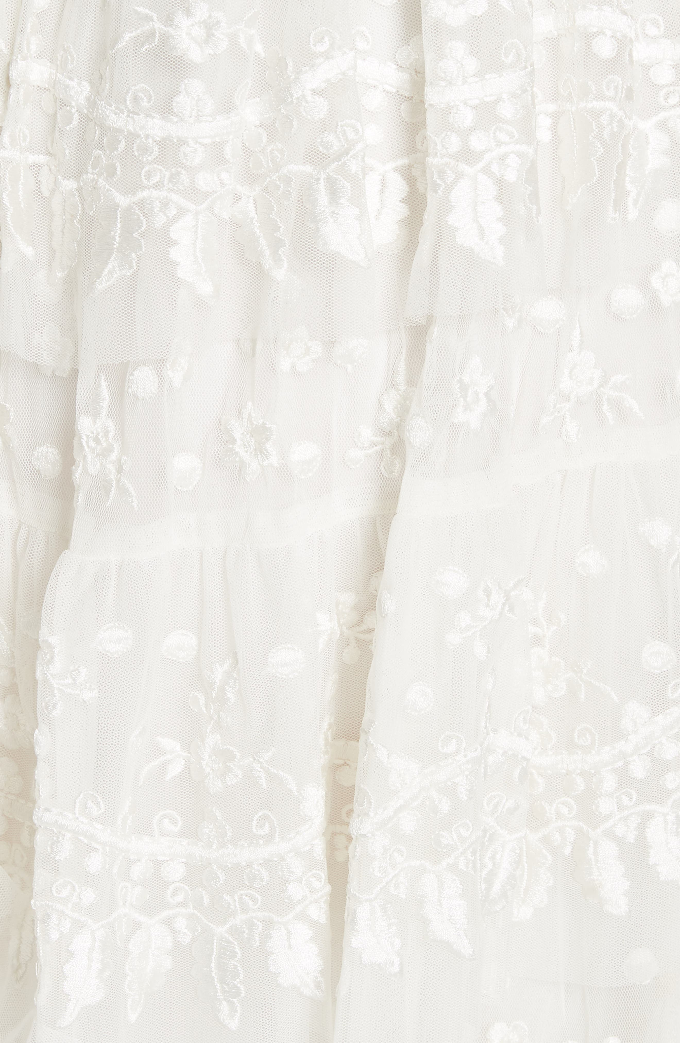 Layered Lace Dress,                             Alternate thumbnail 4, color,                             Ivory