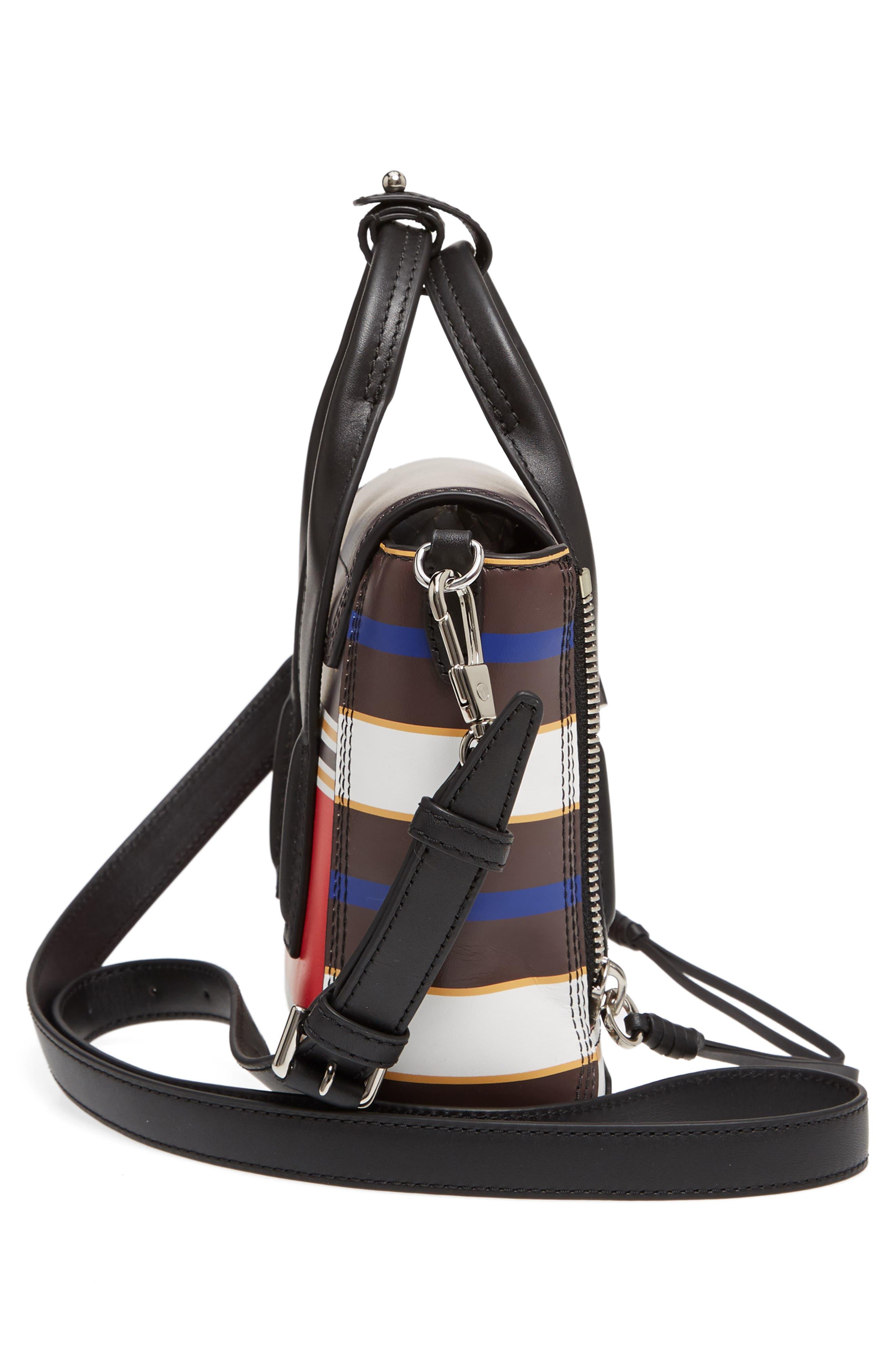 Mini Pashli Stripe Leather Satchel,                             Alternate thumbnail 5, color,                             Red Multi