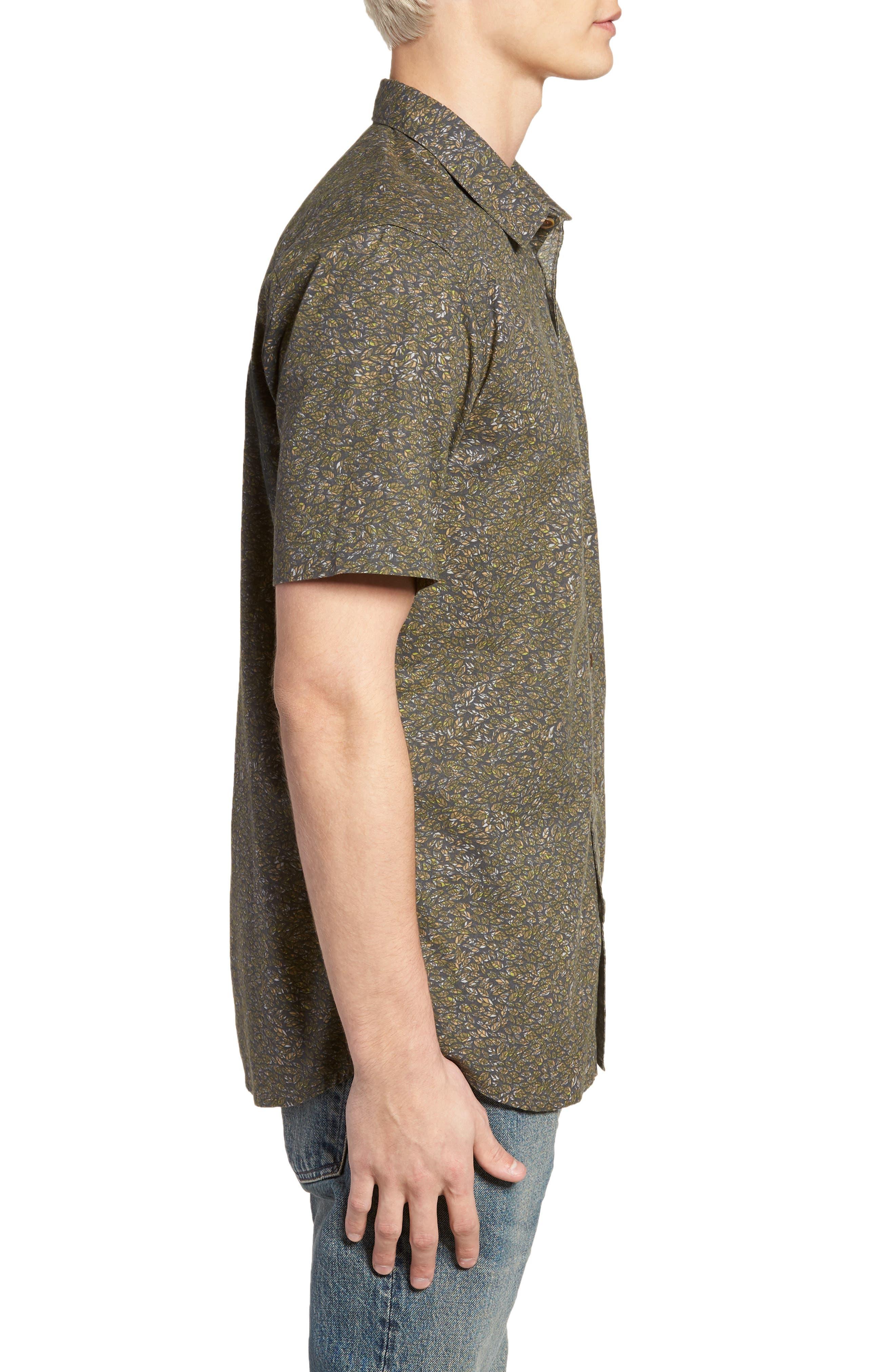 Livingston Short Sleeve Shirt,                             Alternate thumbnail 4, color,                             Asphalt