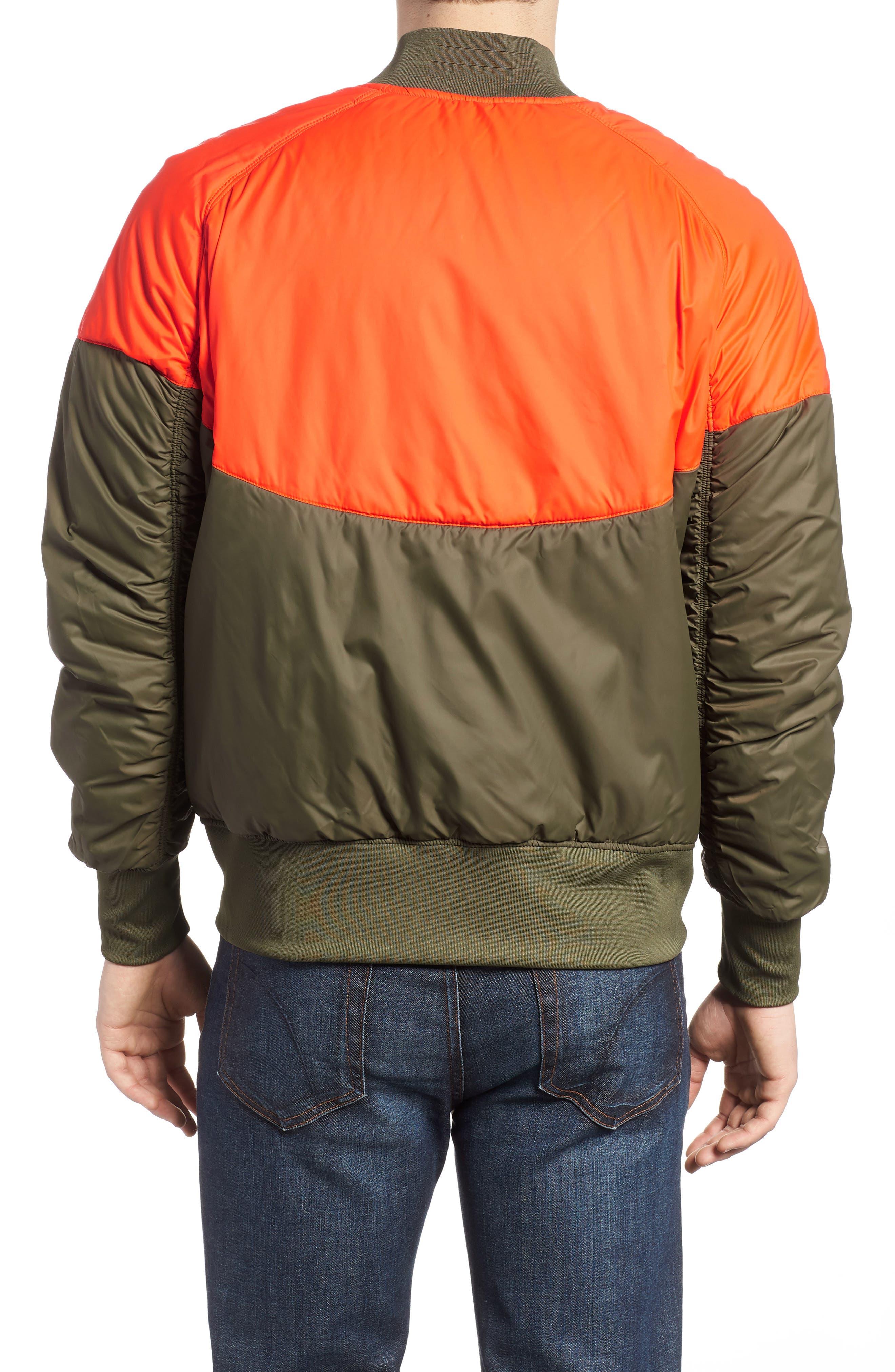 NSW Air Force 1 Jacket,                             Alternate thumbnail 2, color,                             Medium Olive/ Orange/ Olive