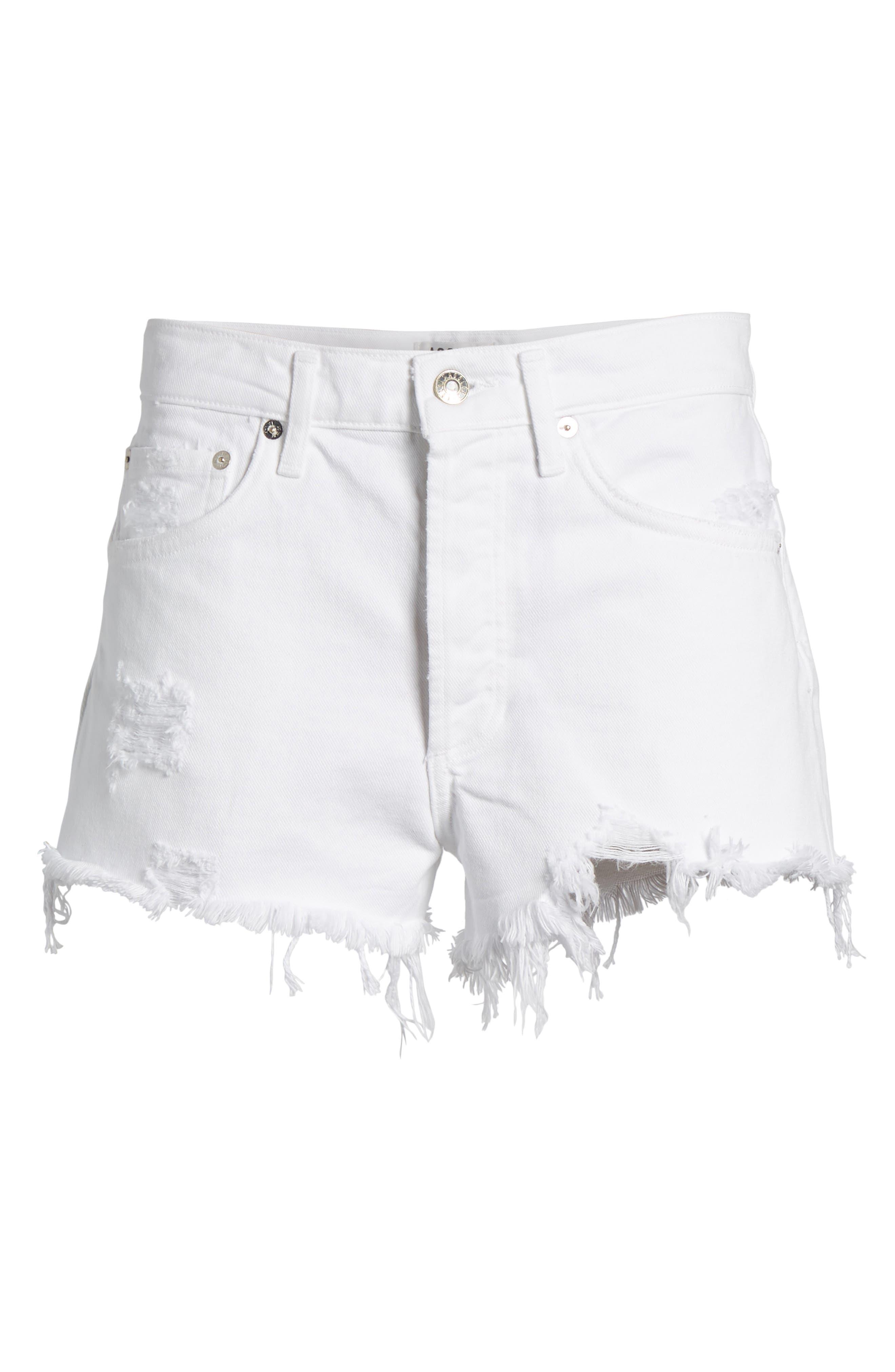 Parker Distressed Denim Shorts,                             Alternate thumbnail 7, color,                             Detour