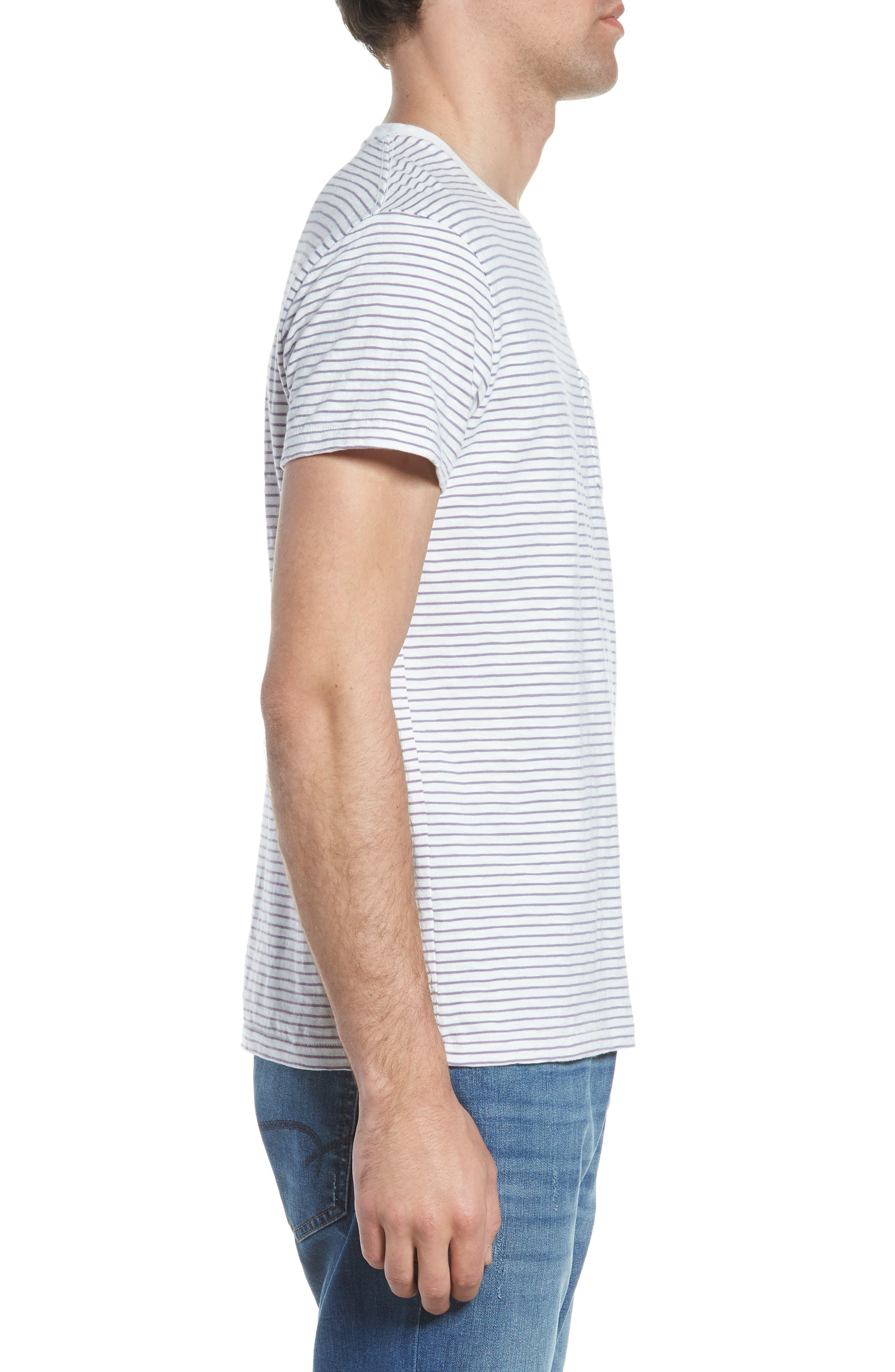 Malaga Cove Stripe T-Shirt,                             Alternate thumbnail 3, color,                             Antique White