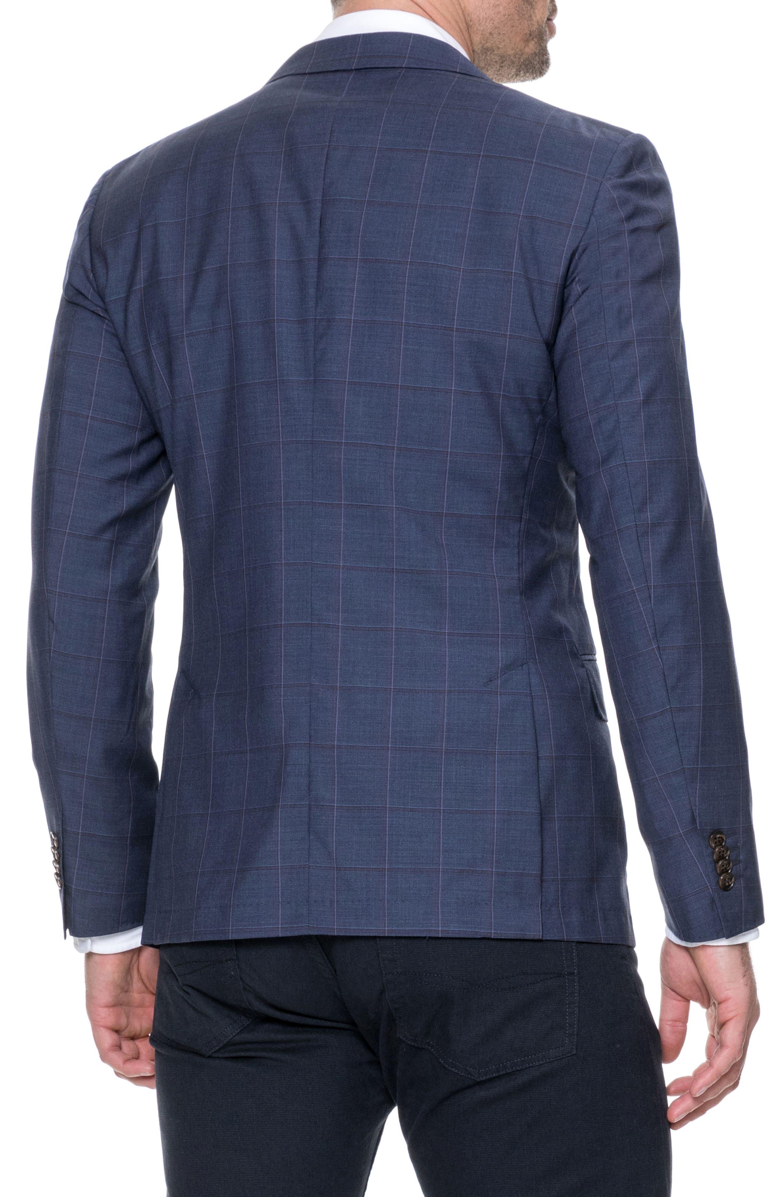 Luxbridge Regular Fit Wool Sport Coat,                             Alternate thumbnail 2, color,                             Midnight