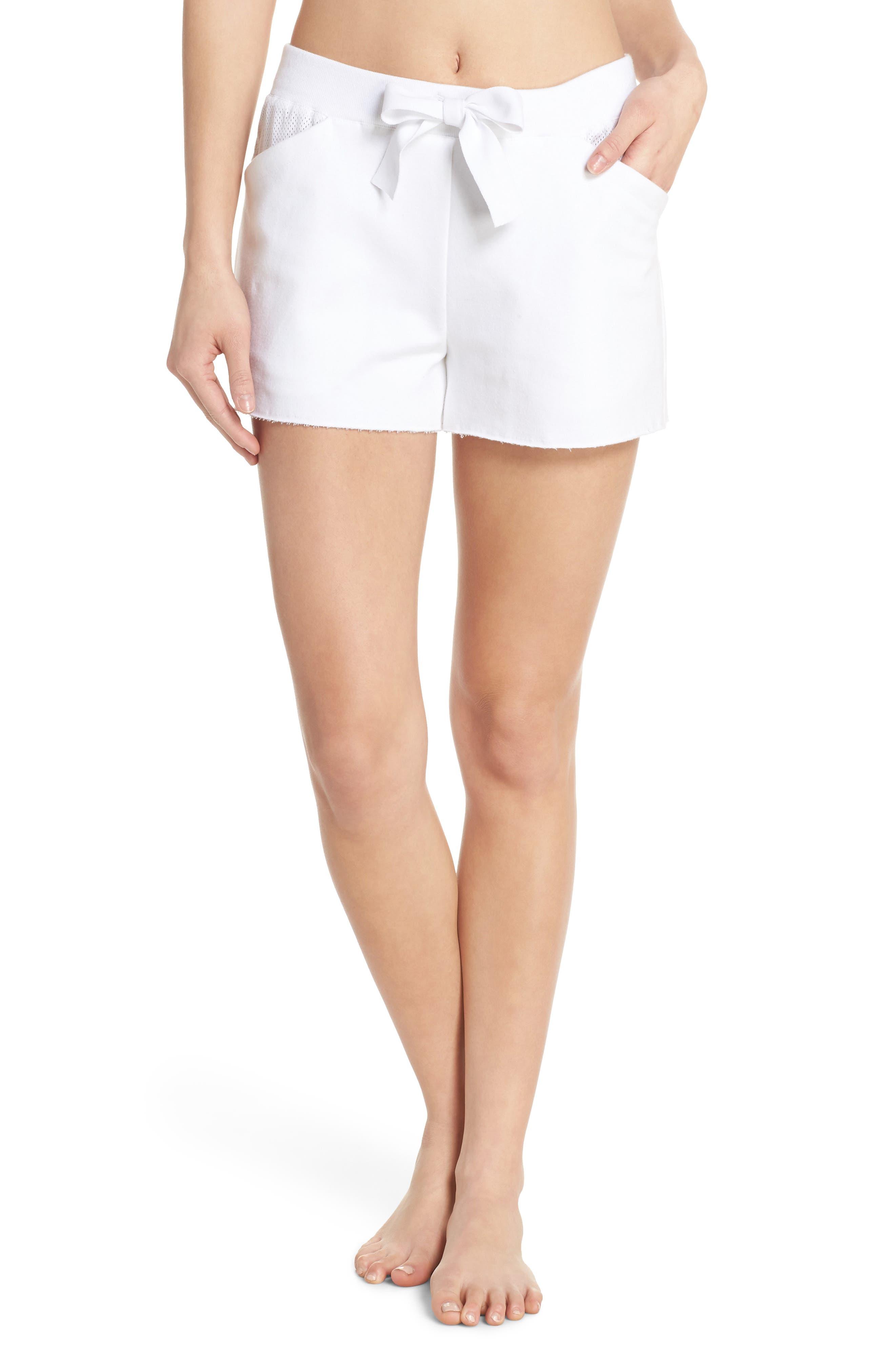 Notch Shorts,                         Main,                         color, White