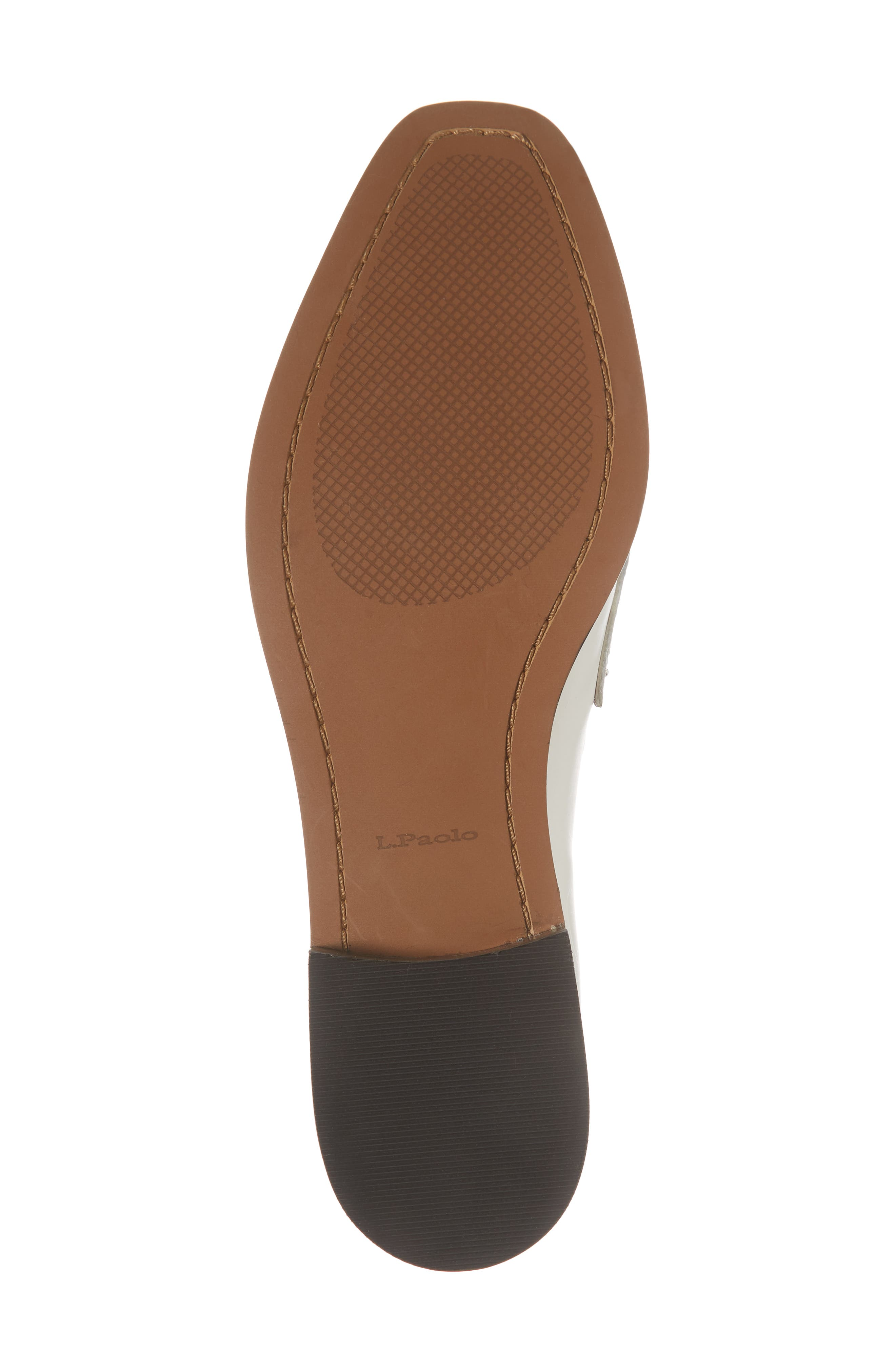 Tara Penny Loafer,                             Alternate thumbnail 6, color,                             Off White Leather