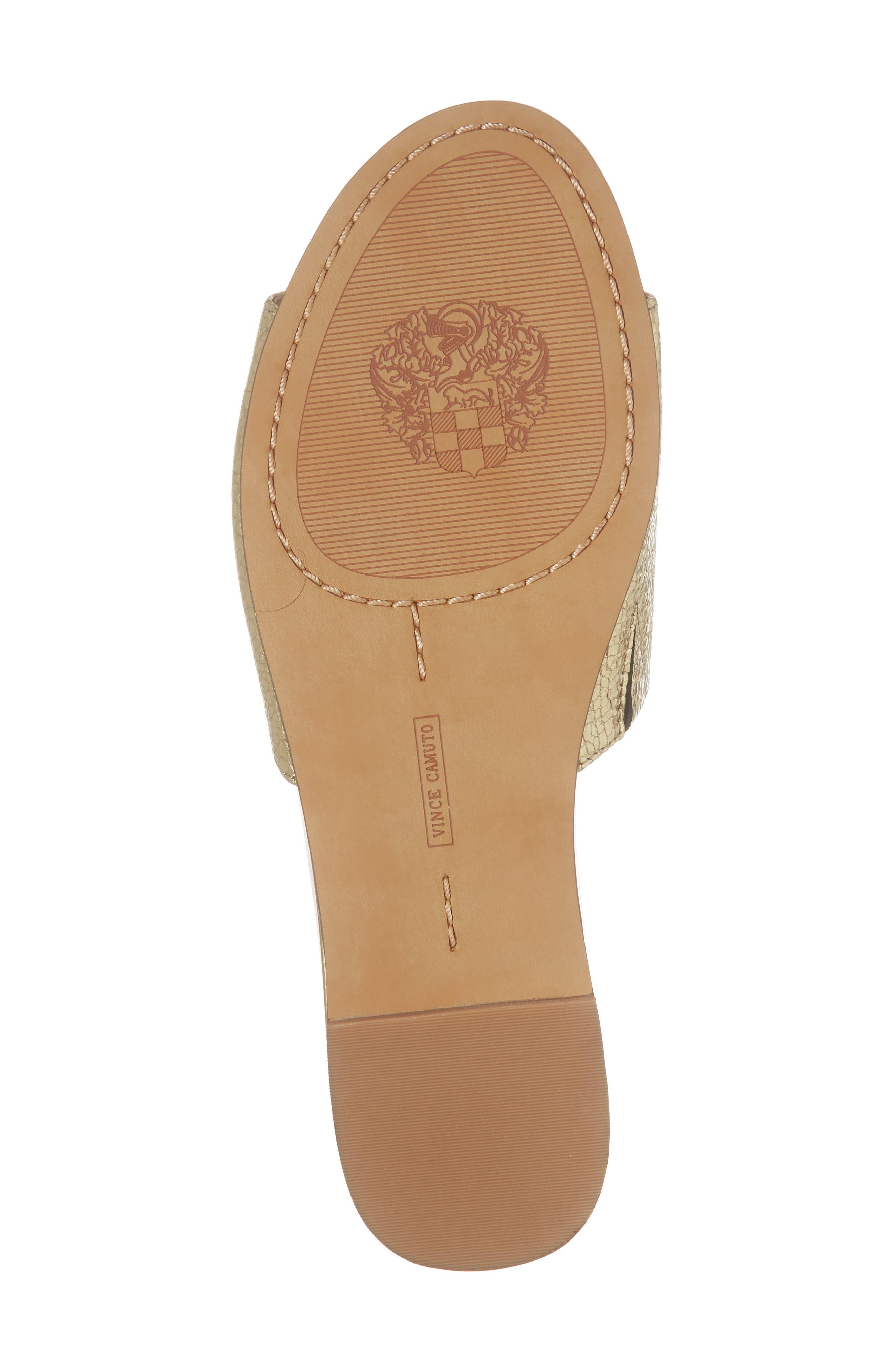 Haydan Slide Sandal,                             Alternate thumbnail 6, color,                             Karat Gold Fabric