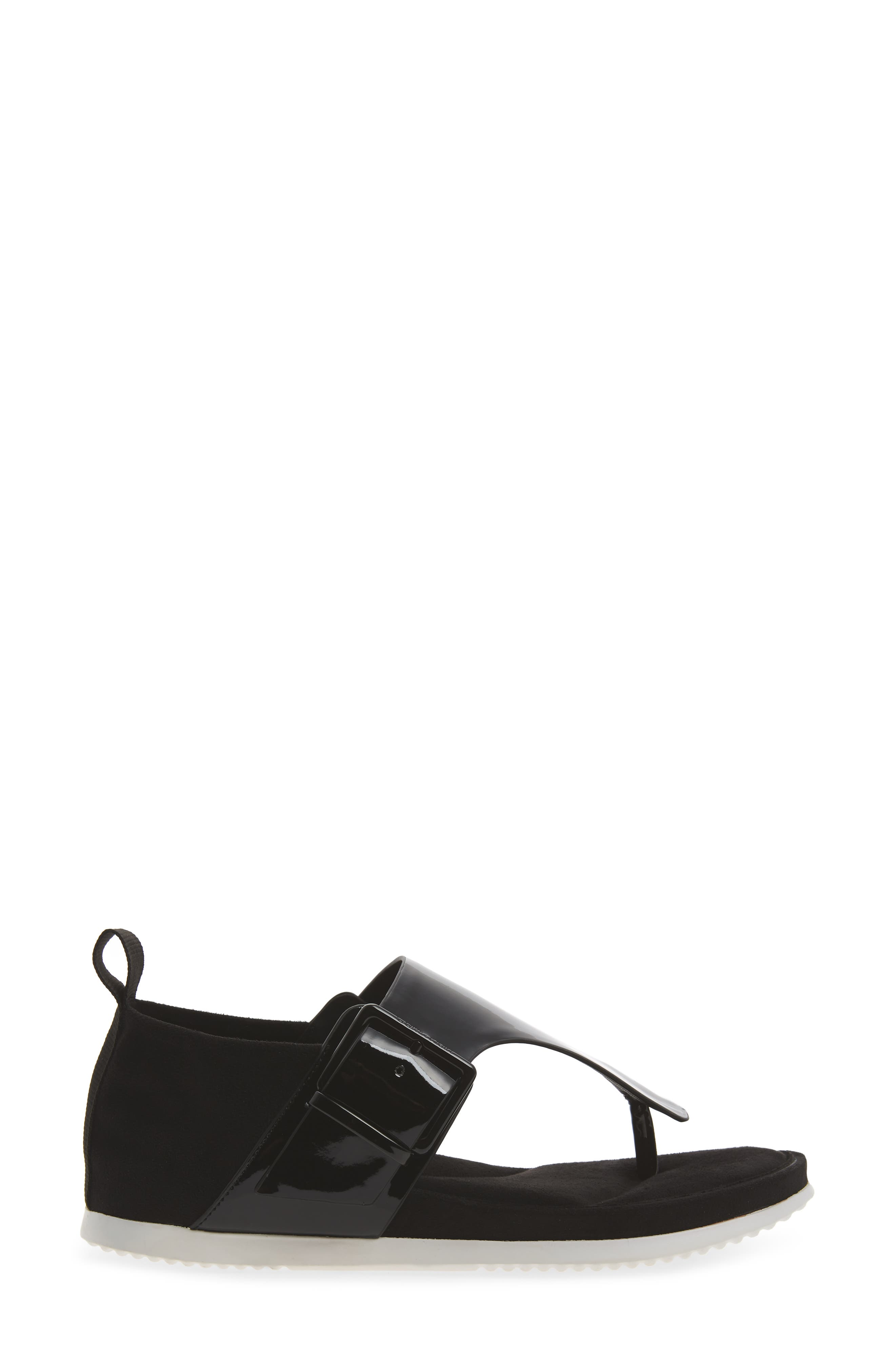 Dionay Wedge Sandal,                             Alternate thumbnail 3, color,                             Black Patent