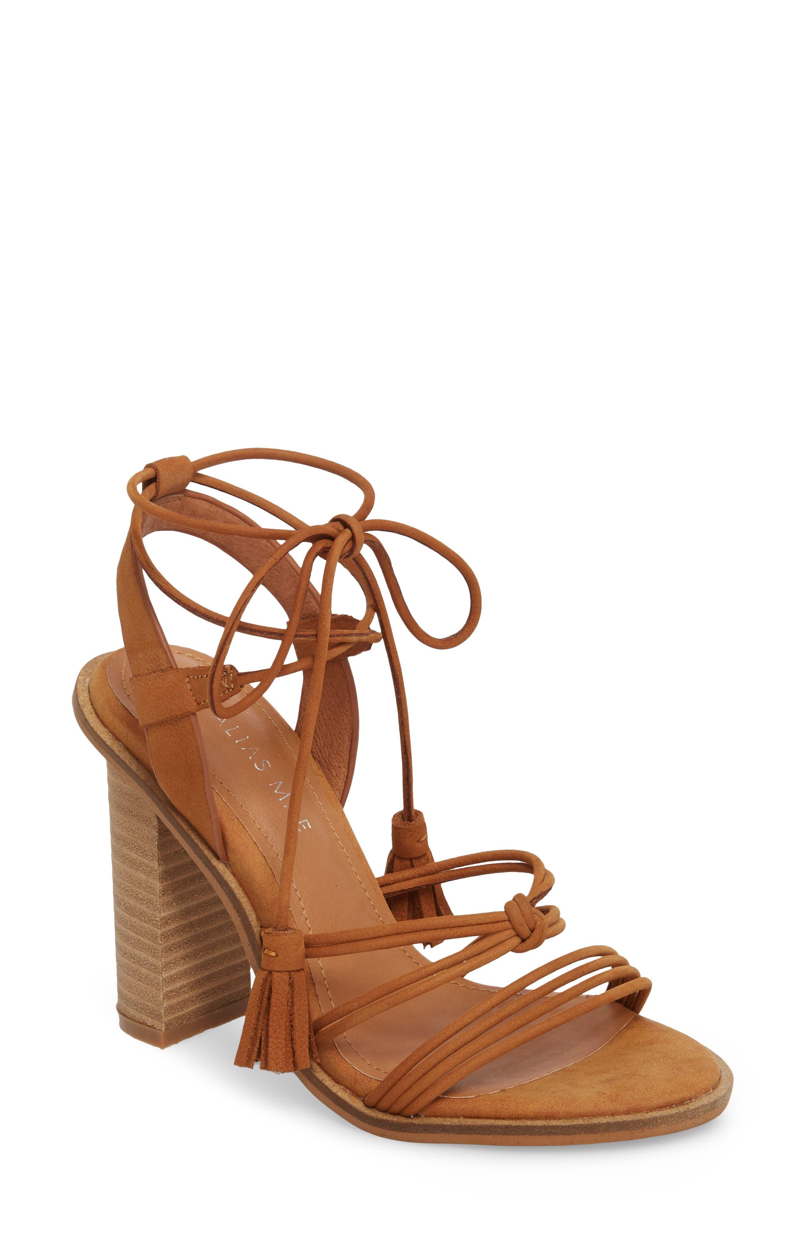 Adagio Sandal,                         Main,                         color, Tan Leather