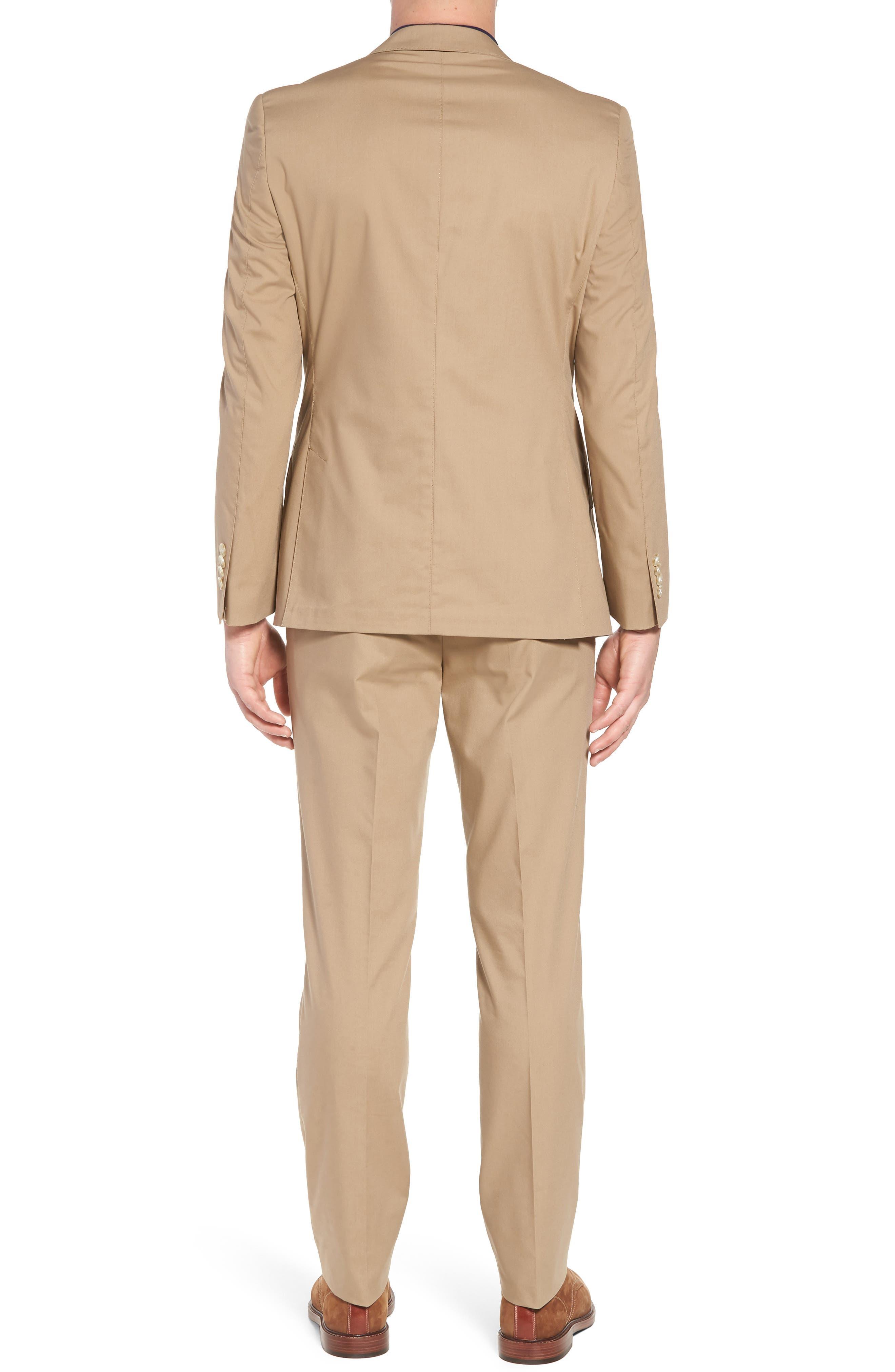 Irons AIM Classic Fit Solid Cotton Blend Suit,                             Alternate thumbnail 2, color,                             Khaki
