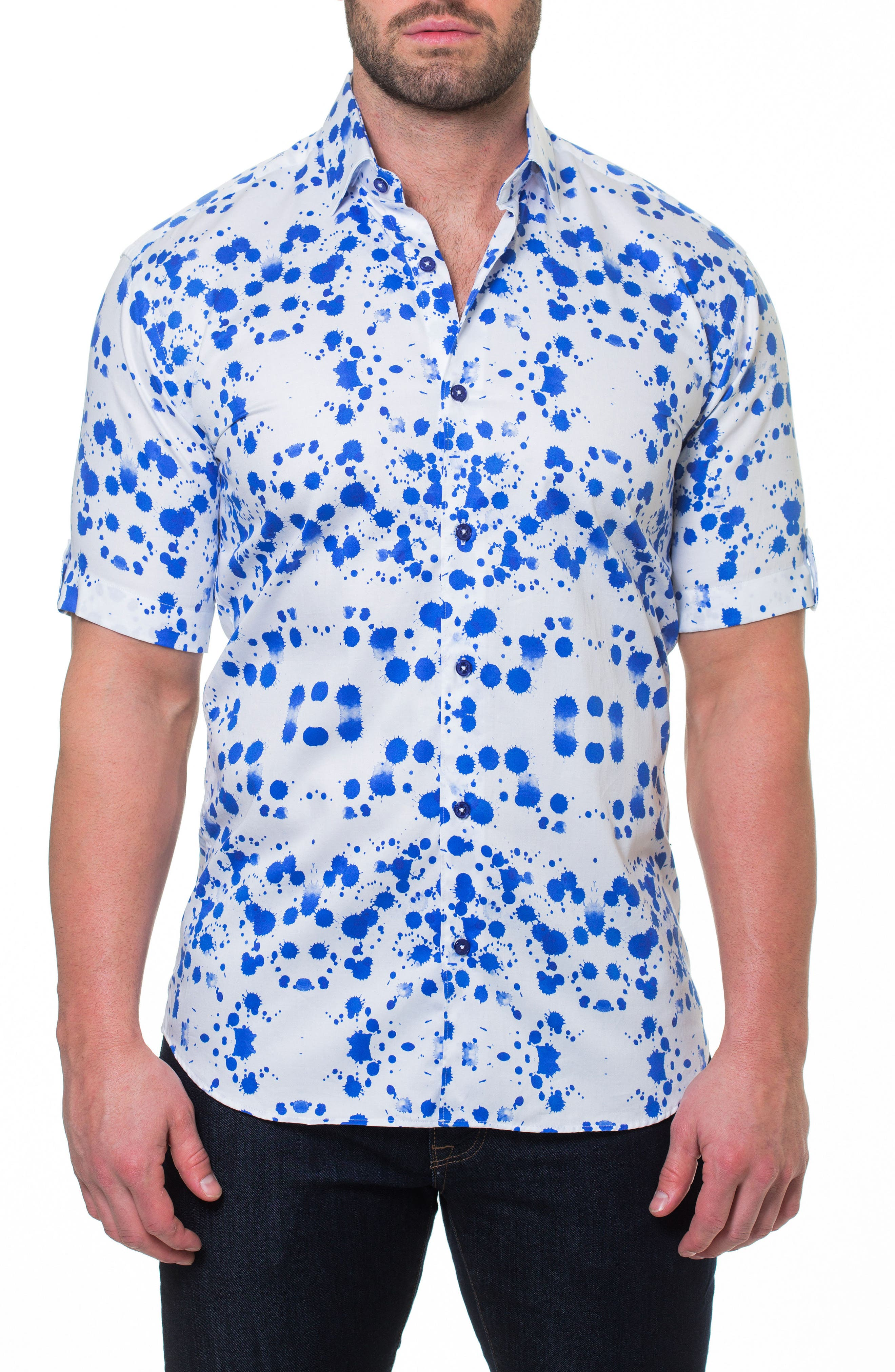 Fresh Drop Sport Shirt,                         Main,                         color, White
