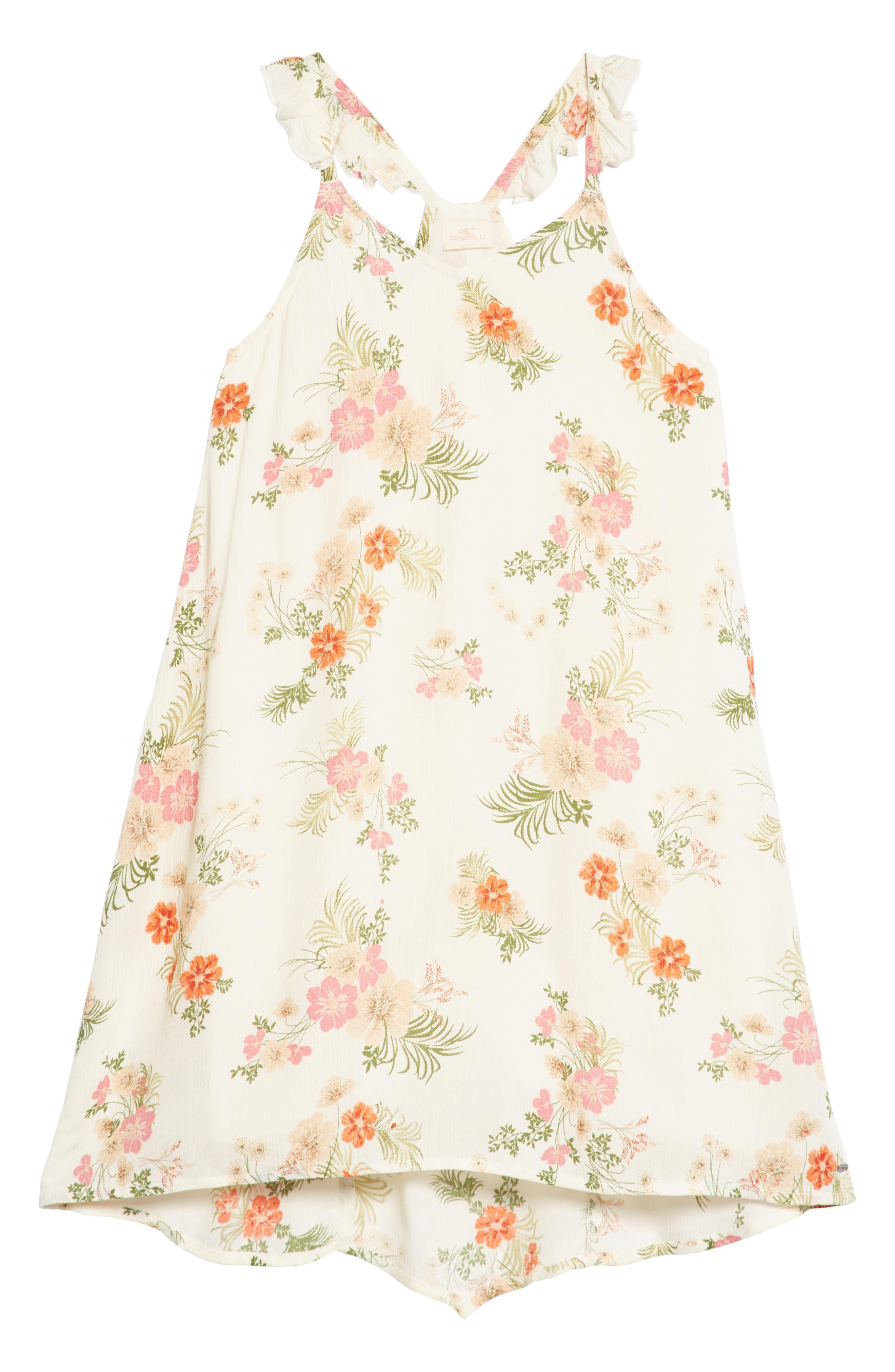 Ashley Print Dress,                             Main thumbnail 1, color,                             White Floral