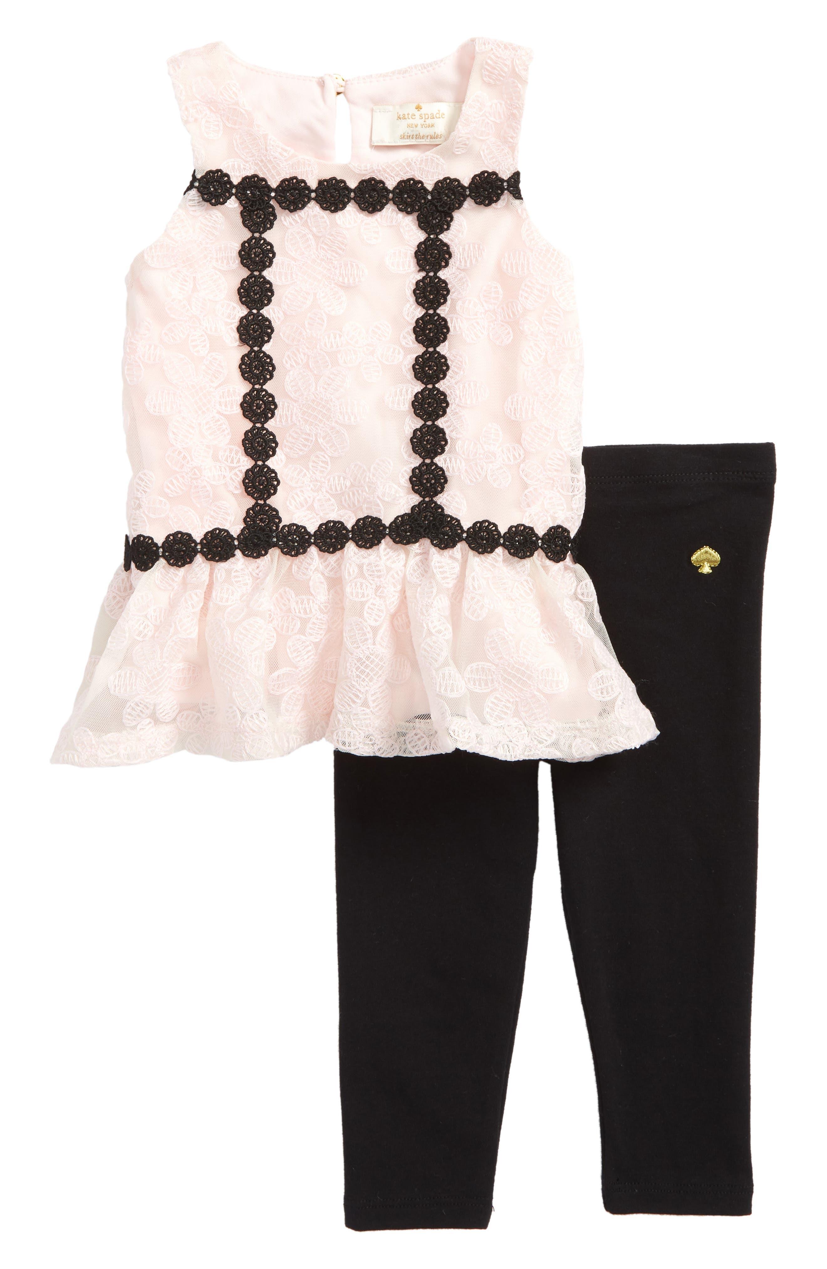 peplum tank & leggings set,                         Main,                         color, Sonata Pink