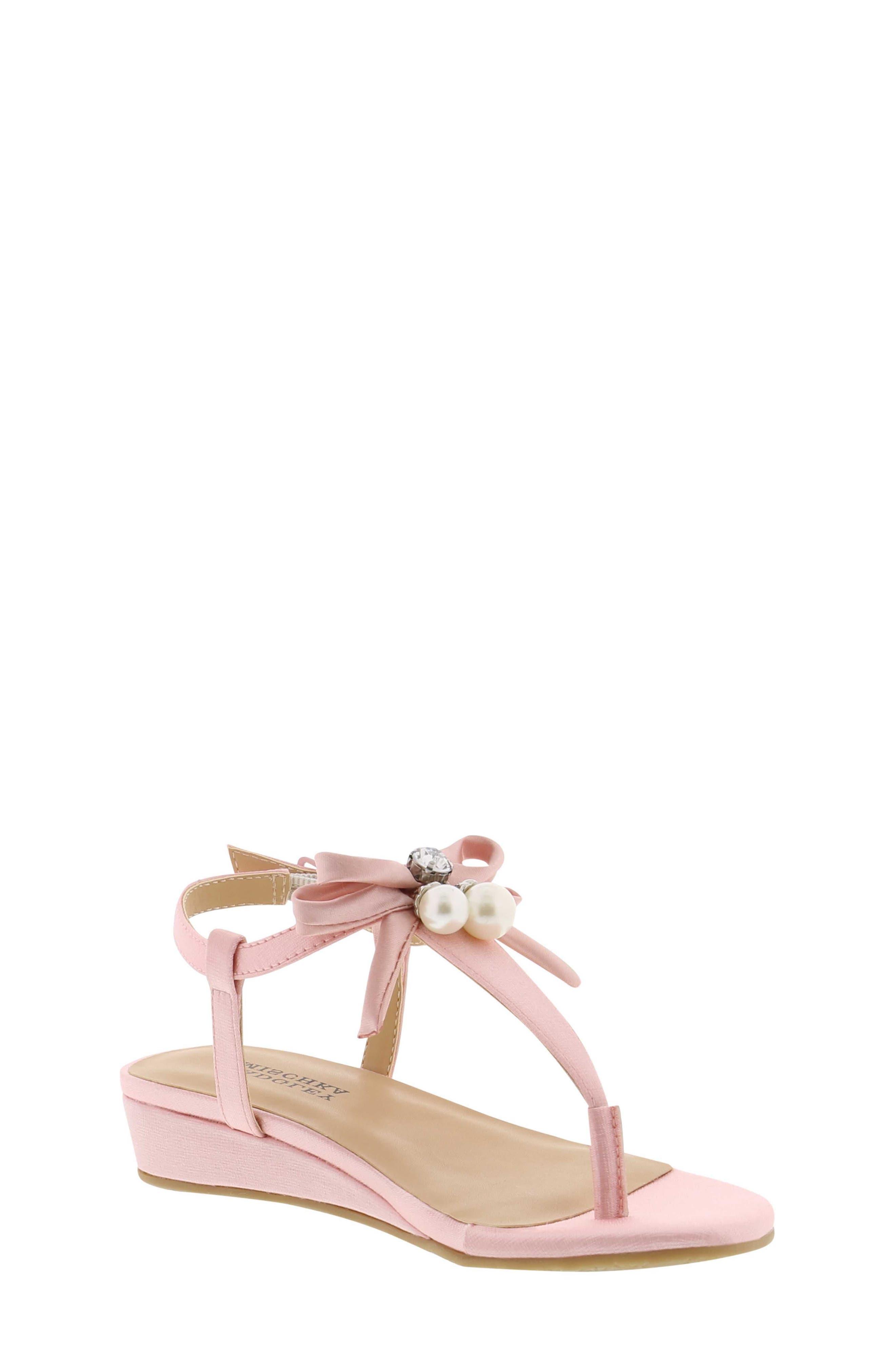 Talia Embellished Bow Sandal,                             Alternate thumbnail 2, color,                             Light Pink