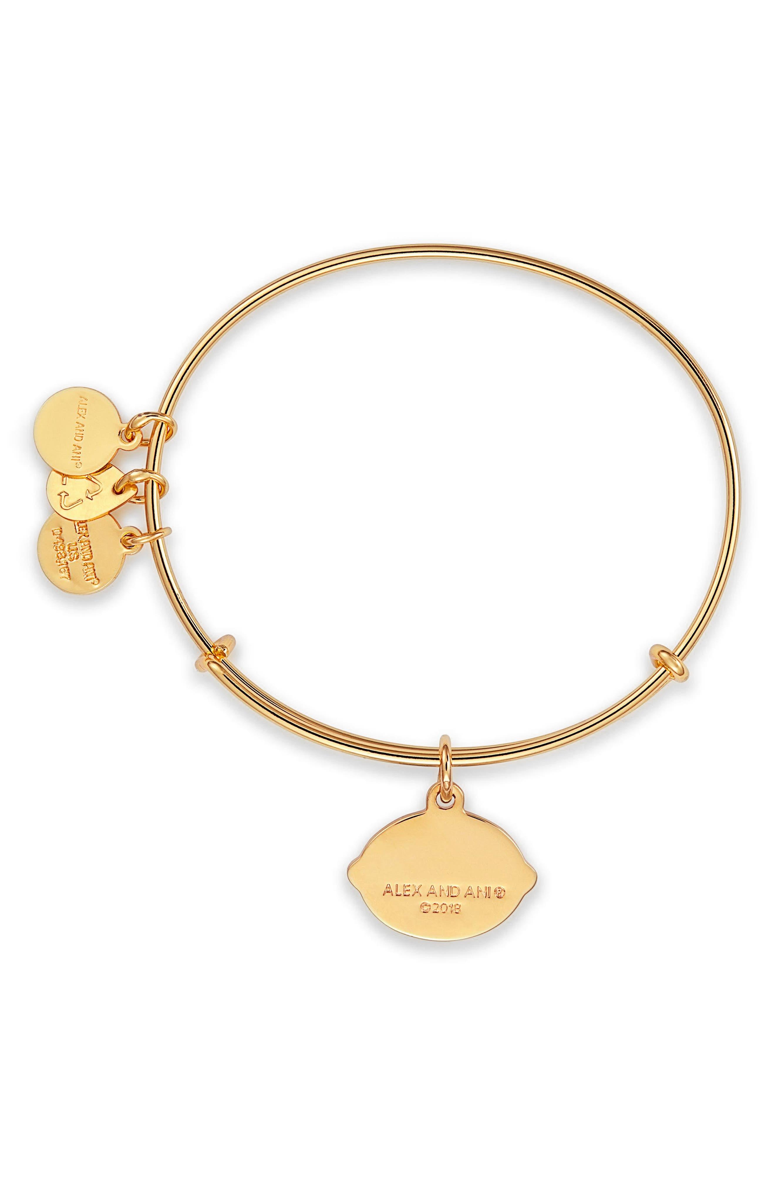 Charity by Design When Life Gives You Lemons Charm Bracelet,                             Alternate thumbnail 2, color,                             Gold